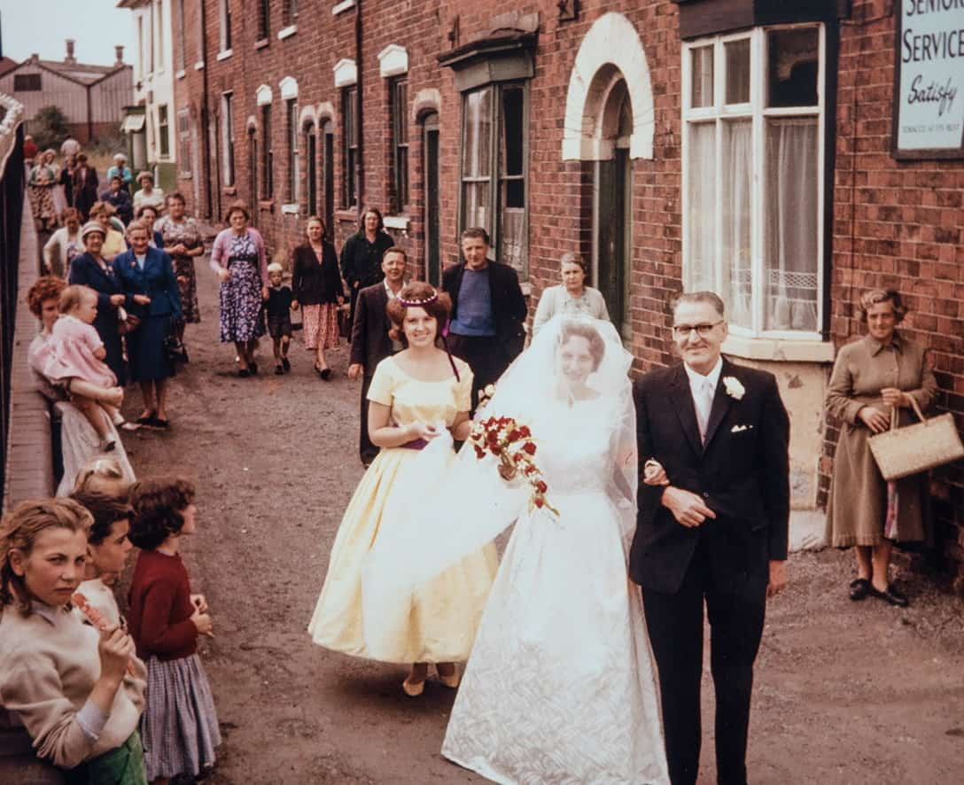 Ruth makes her way to her Wedding with her father, Will King.