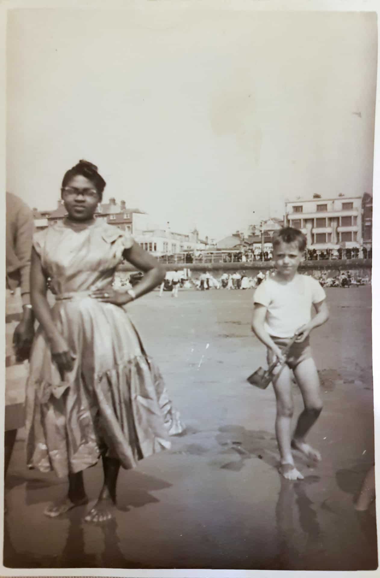 Herma on Blackpool Beach, 1953
