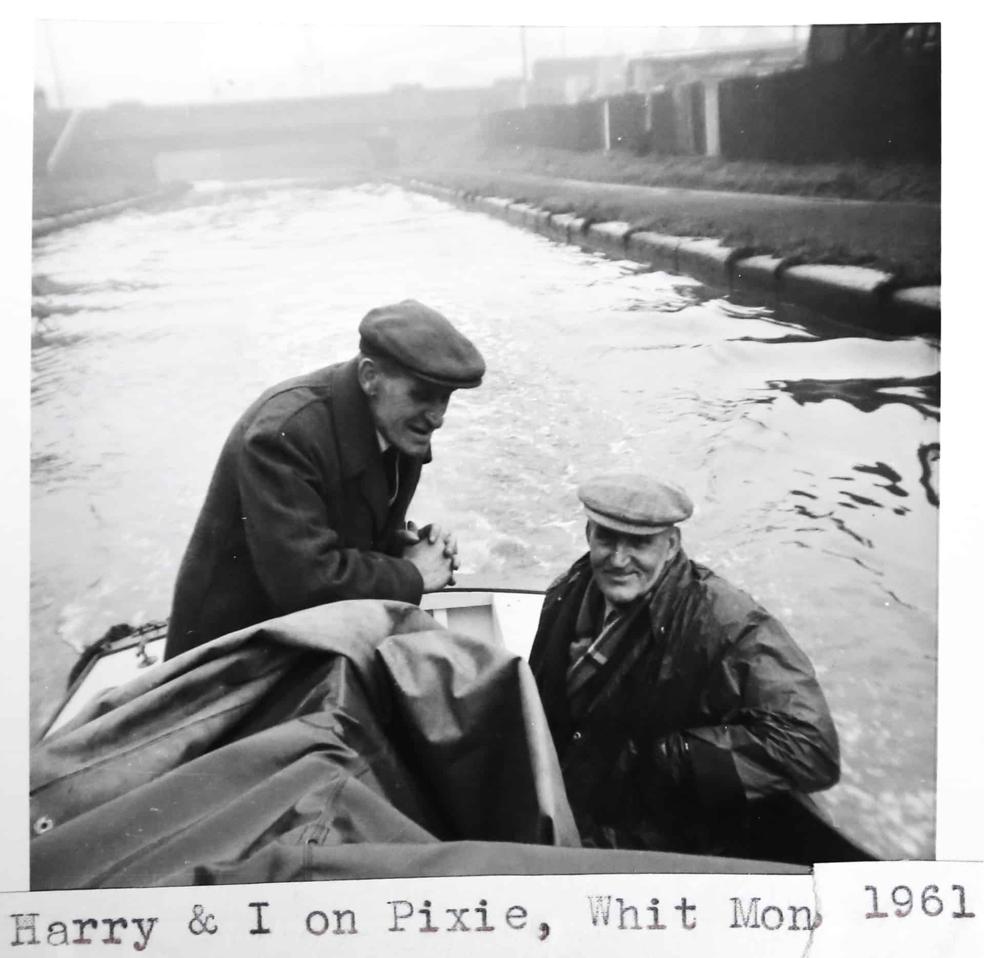 Will King (right) and his friend Harry, 1961