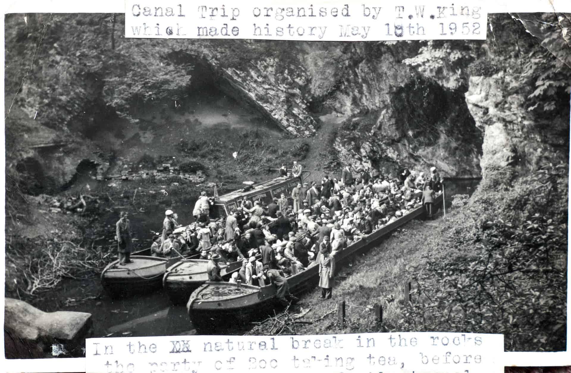 Trip through Dudley Caves, 1952