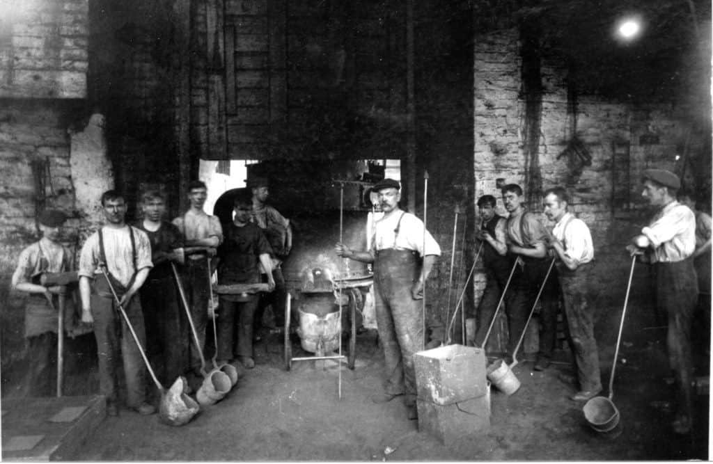Charles Lathe Foundry, at Summerhill Tipton. Dated around late 1920s, photographer unknown