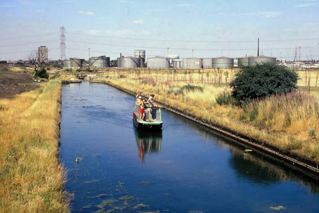 Gower branch canal looking north from Dudley Road East, 1976.