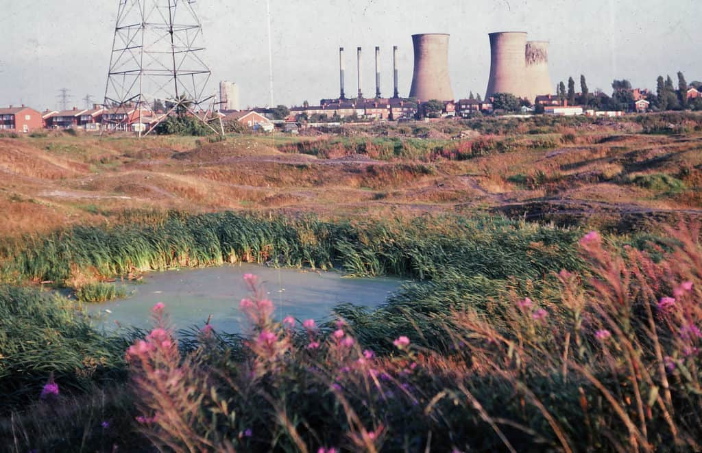 Ocker Hill Power Station as seen from Gospel Oak, 1978