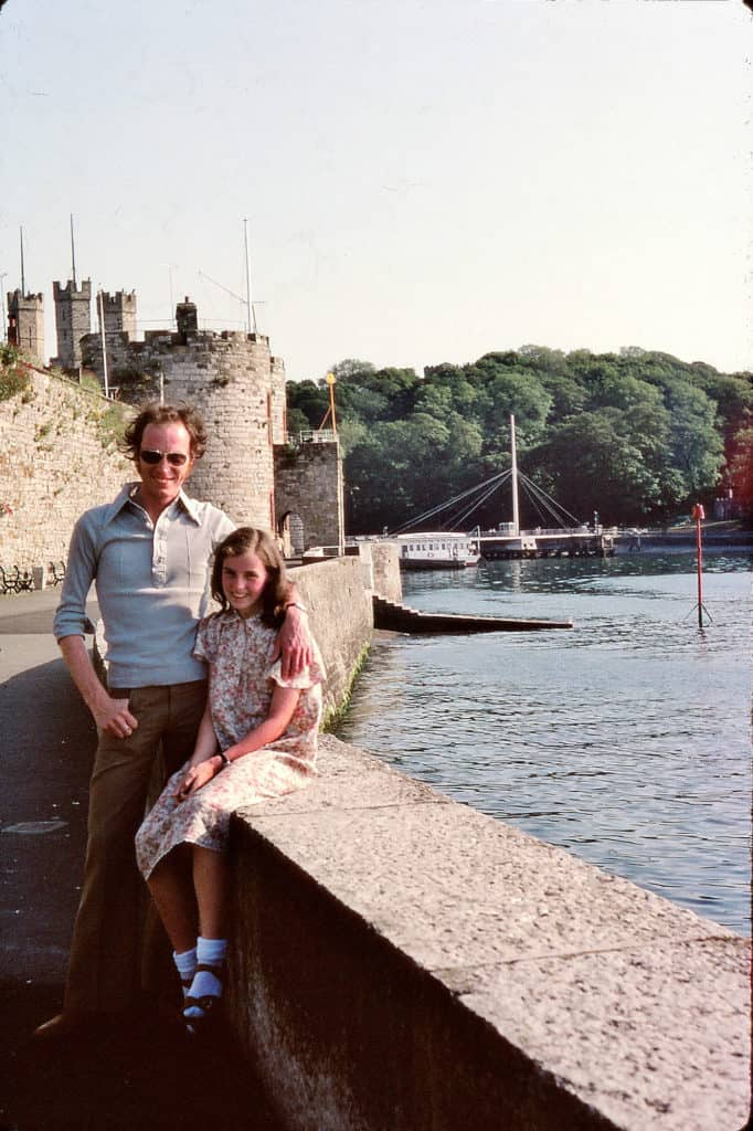 Keith and his sister Lynn at Conway Castle, Wales 1978