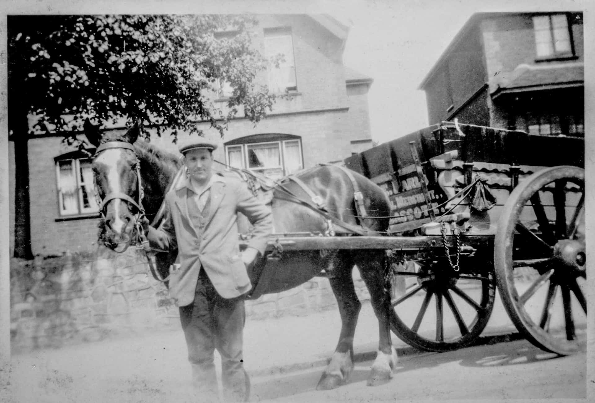 Will King delivering coal for Barlows of Tamworth in the early 1930s