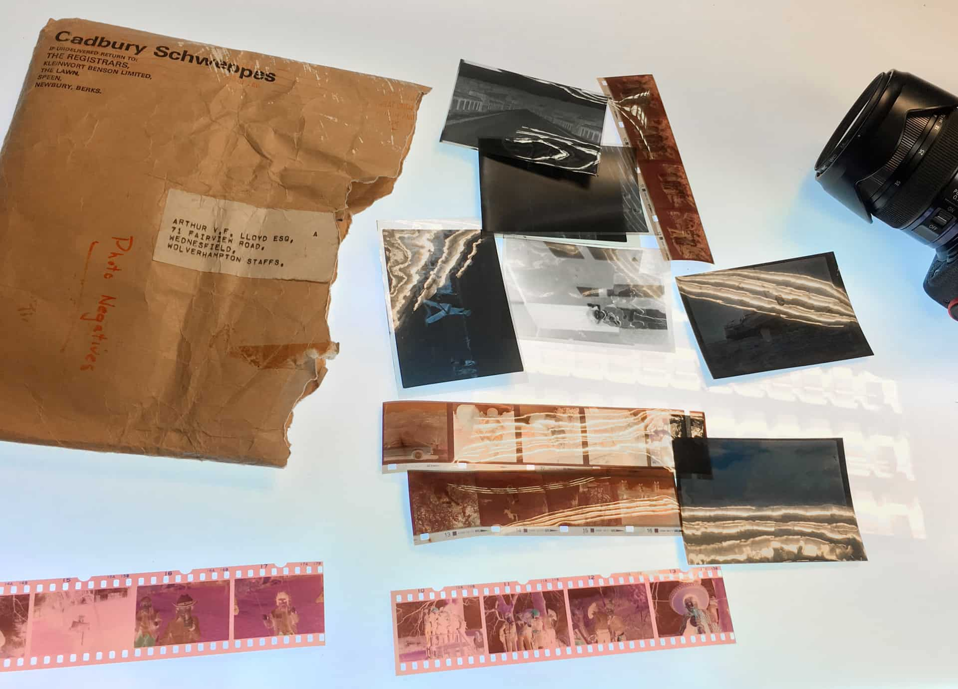 A selection negatives ready for scanning