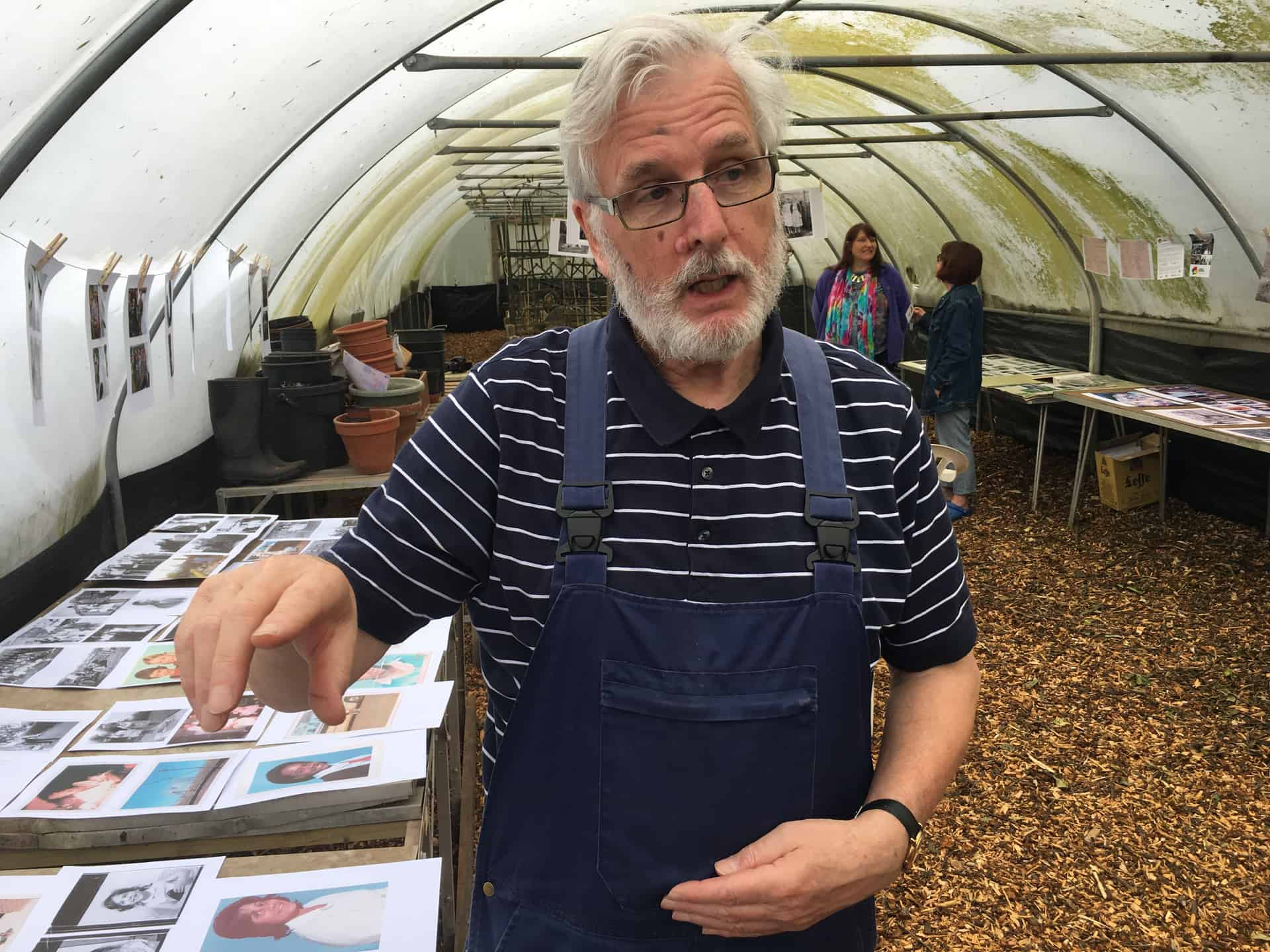 Plot holder Howard Berry talks about his own family collection.