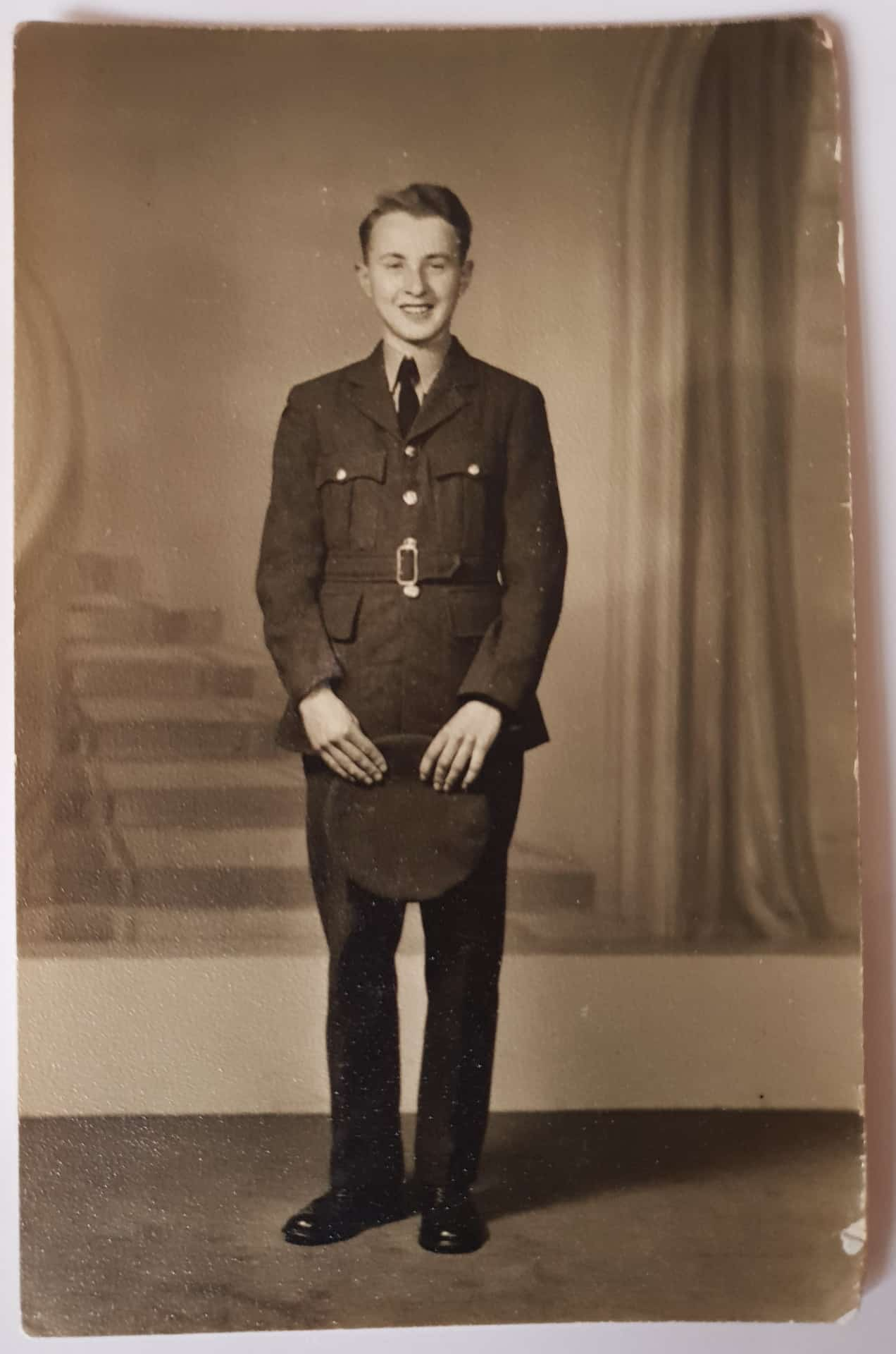 John in his National Service uniform, 1950s