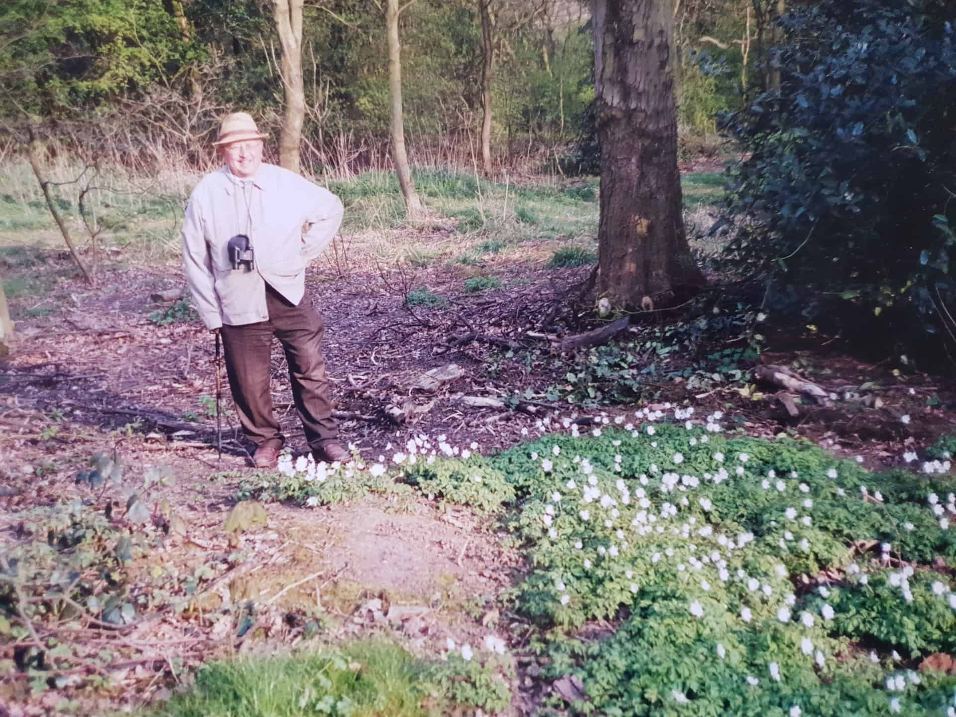 John Shrimpton, stood in the Sandwell Valley Park, 1990s