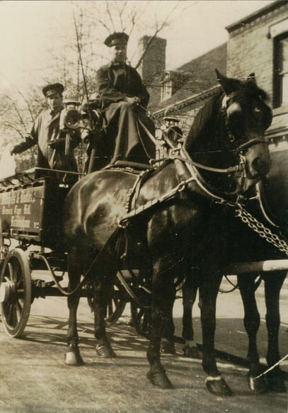 Jean's father delivering beer for Mitchells and Butlers c.1940