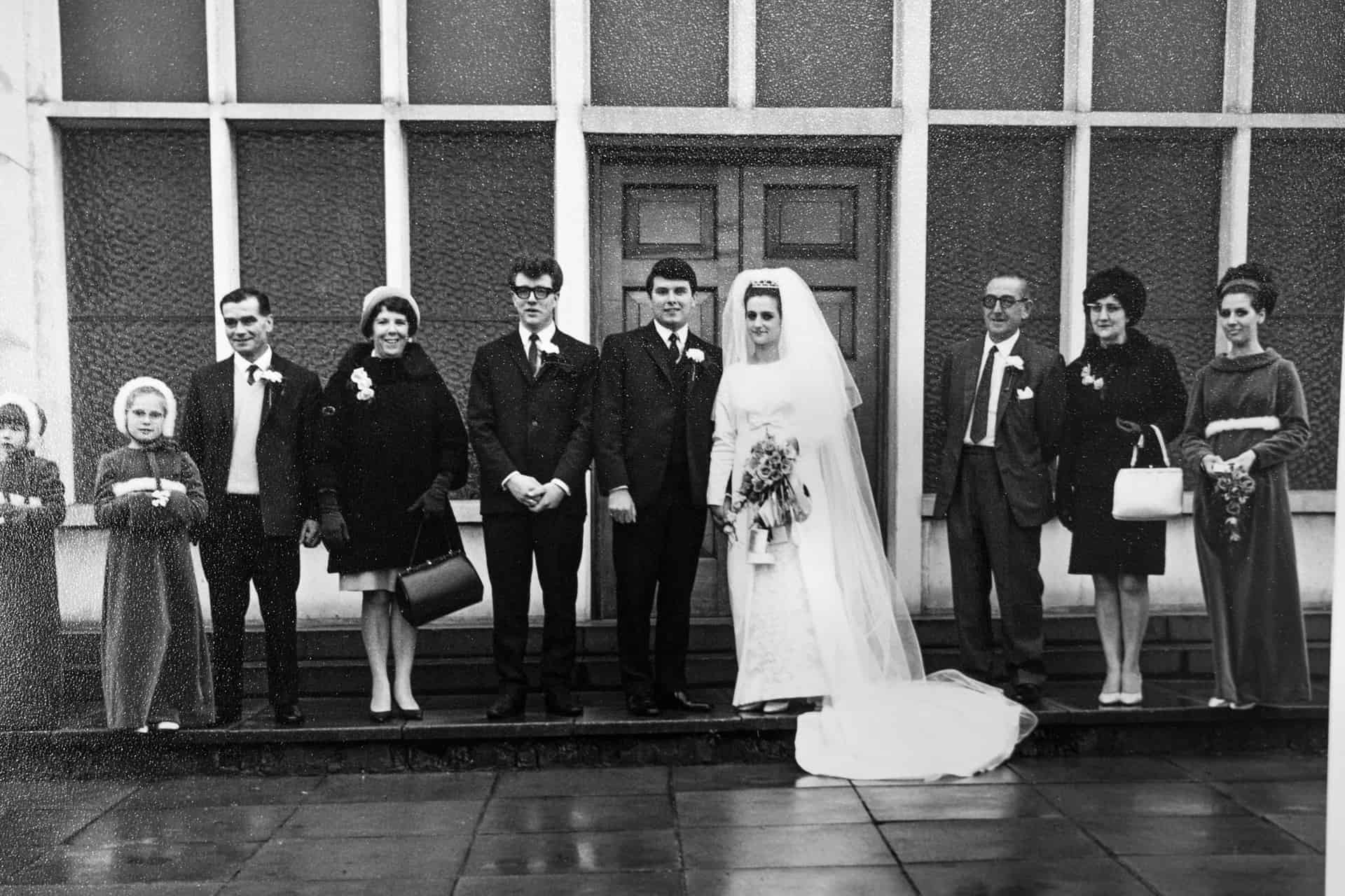So that's me and Alan on our wedding day. On Alan's right is his best friend Terry, who died unexpectedly. They'd been best friends since they were 5, and it was tragic.