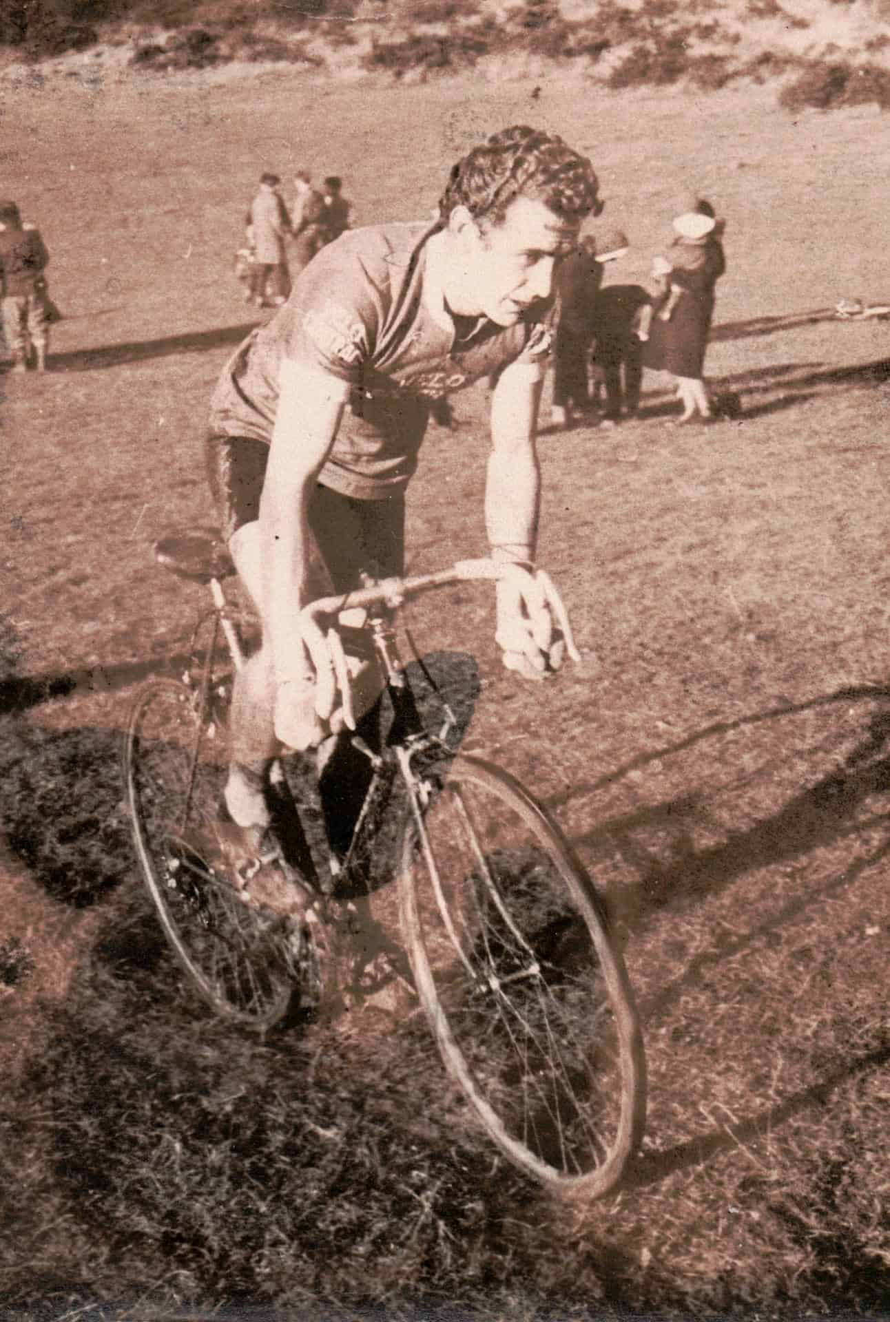 Bill in a cross country bike race. Probably Sutton Park.