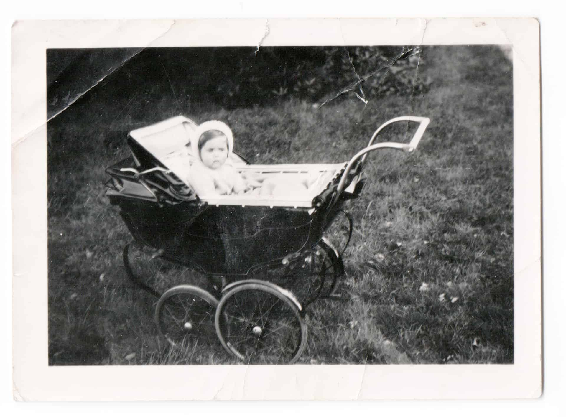 That's me there, and I do look very thoughtful. Apparently I was either asleep or awake and smiling, I was always a happy little baby.   I think both sides of our family just gelled, it was a time really when I guess most people didn't have much, so the joy was in the family.