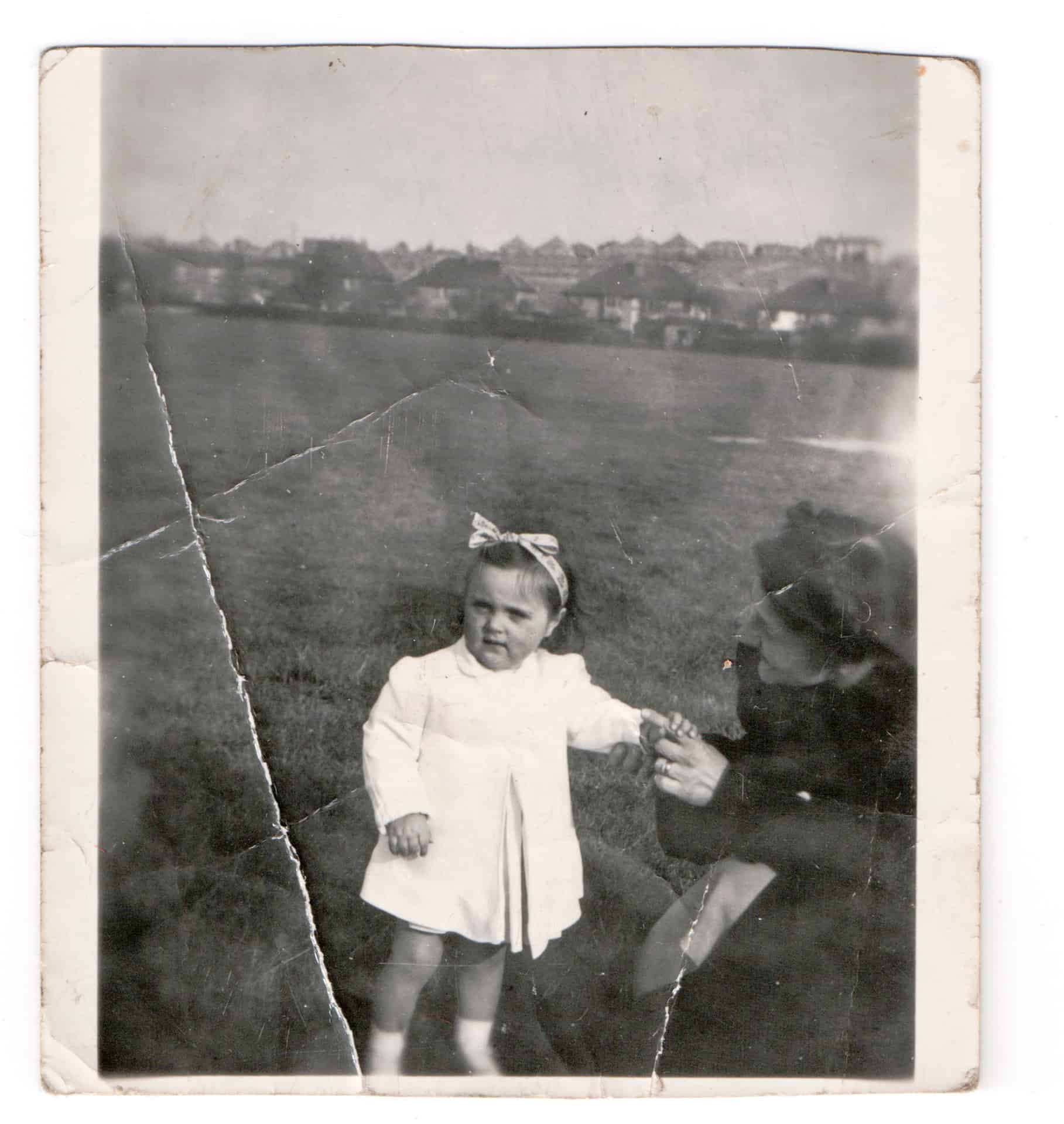 This is me with my mom. You can't see her very well. I think it's in Smethwick Park.