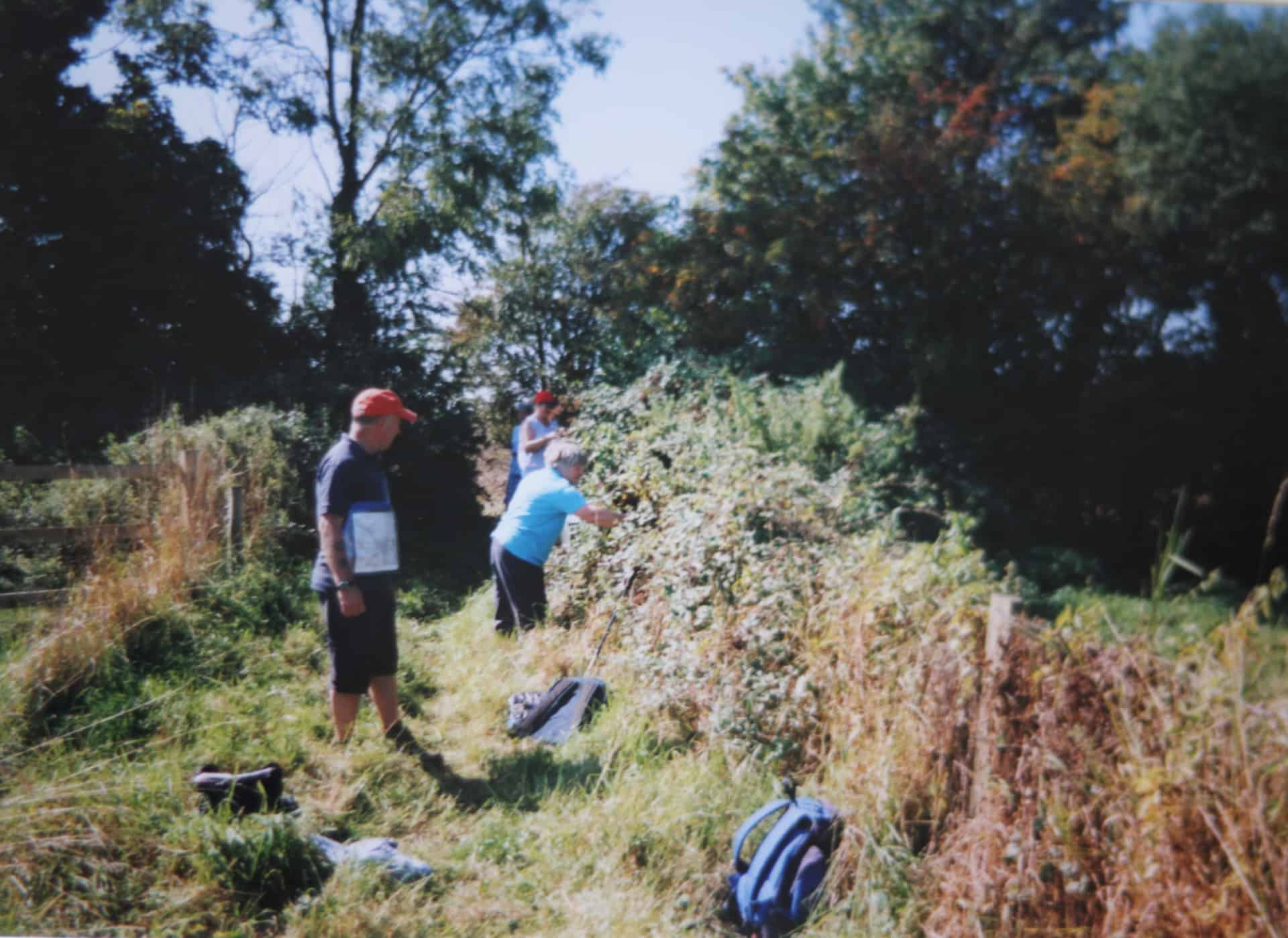 Members of 'Sandnats' - Sandwell Naturalists - undertaking Conservation work