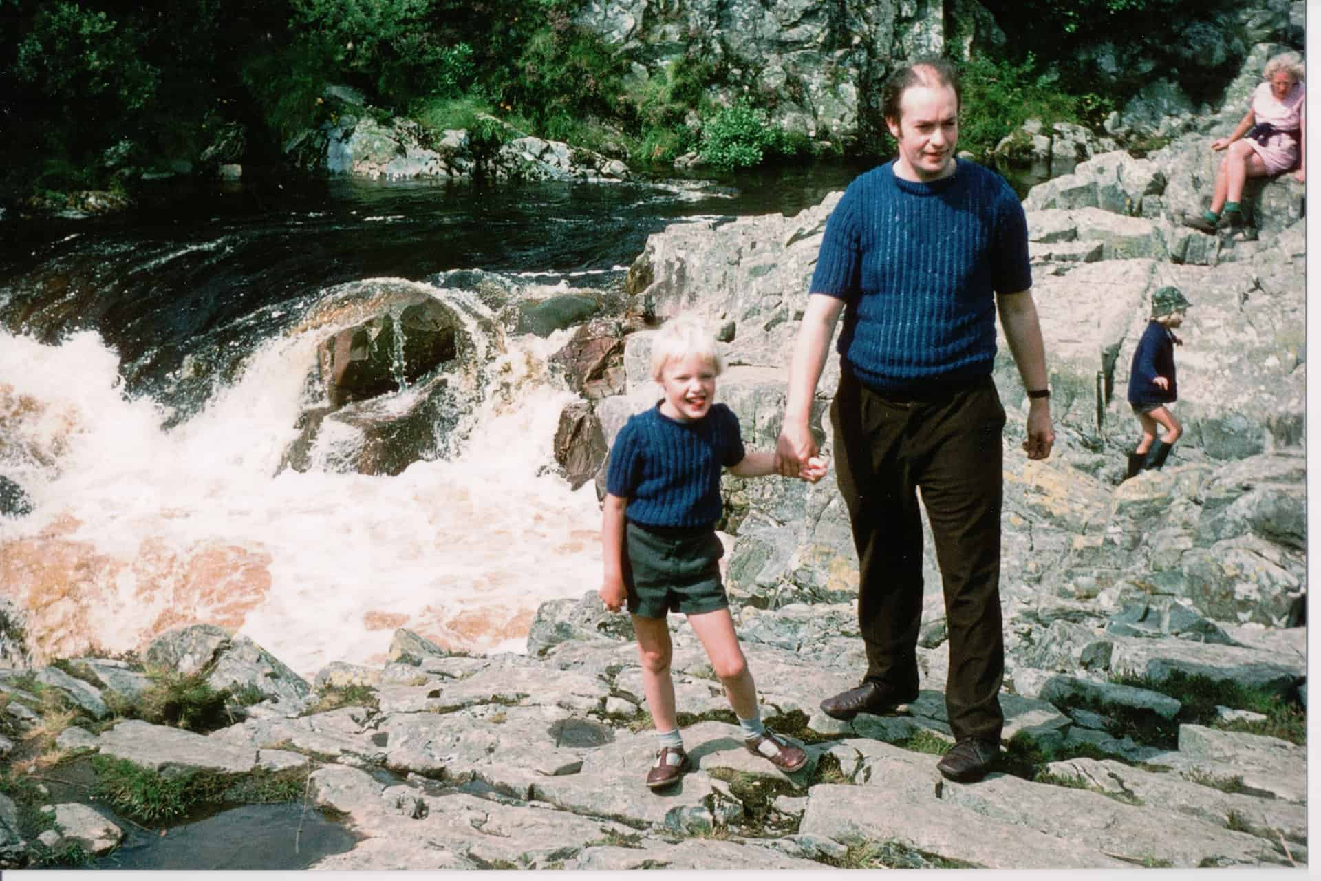 Peter and Conrad, probably at Betws-y-Coed, early 1970s.