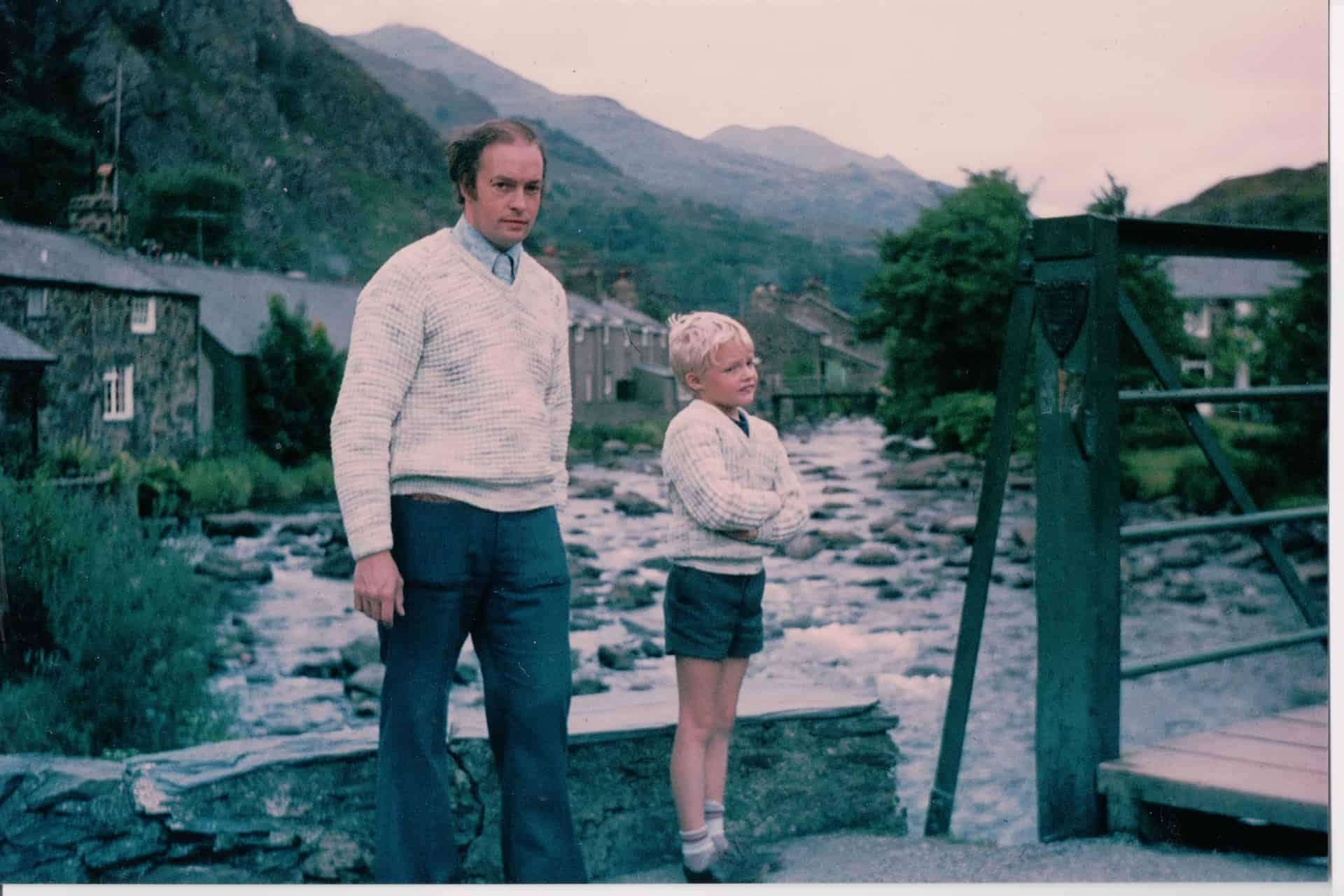 Conrad and Peter, probably at Betws-y-Coed, early 1970s.