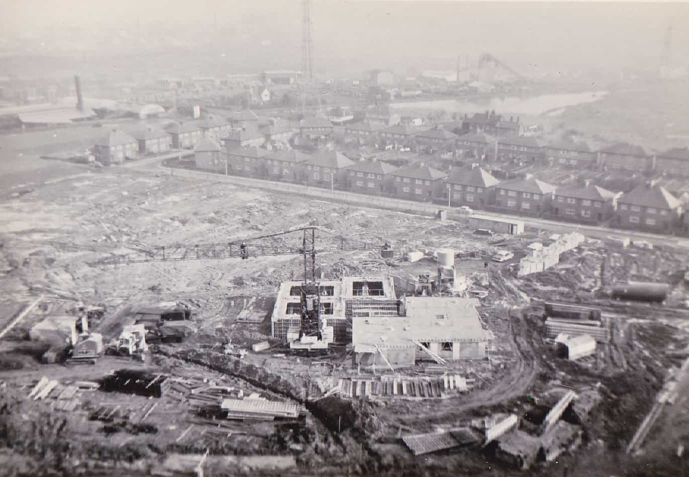 Lion Farm estate under construction. 1960s. Photo by James Rippin
