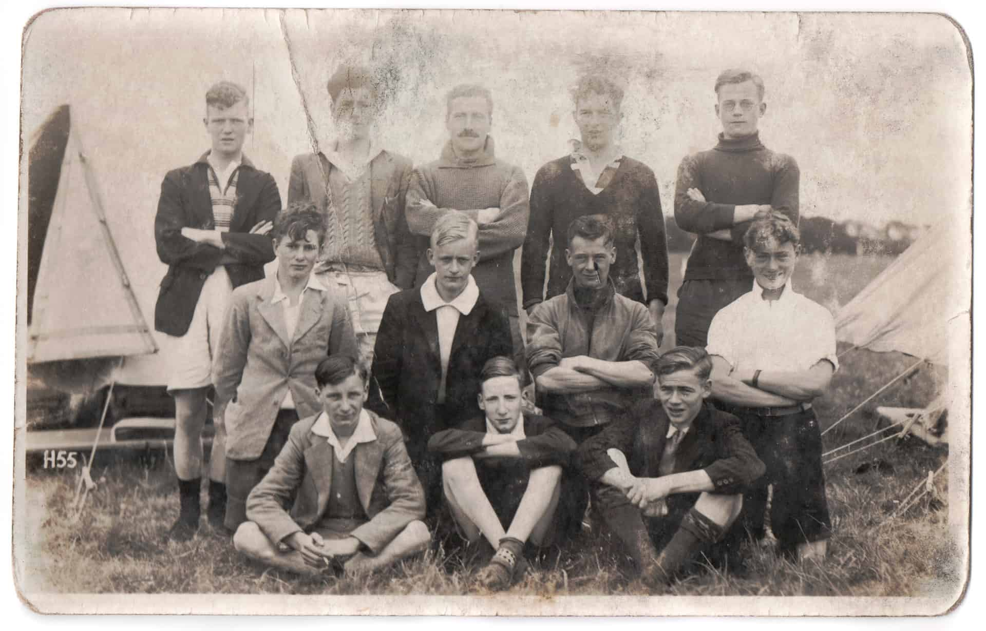 A football team photograph probably dating from about 1934-35. Bill played centre-forward for the works team at K&J.  He is back-row on the left in this photograph.