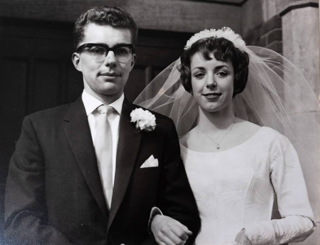Gary and Dorothy on their wedding day 1961.