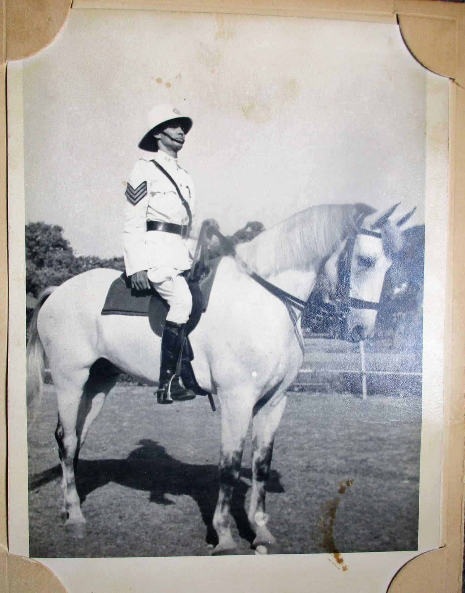 Marianne's dad while serving in the Calcuta Police, taken in the early 1950s