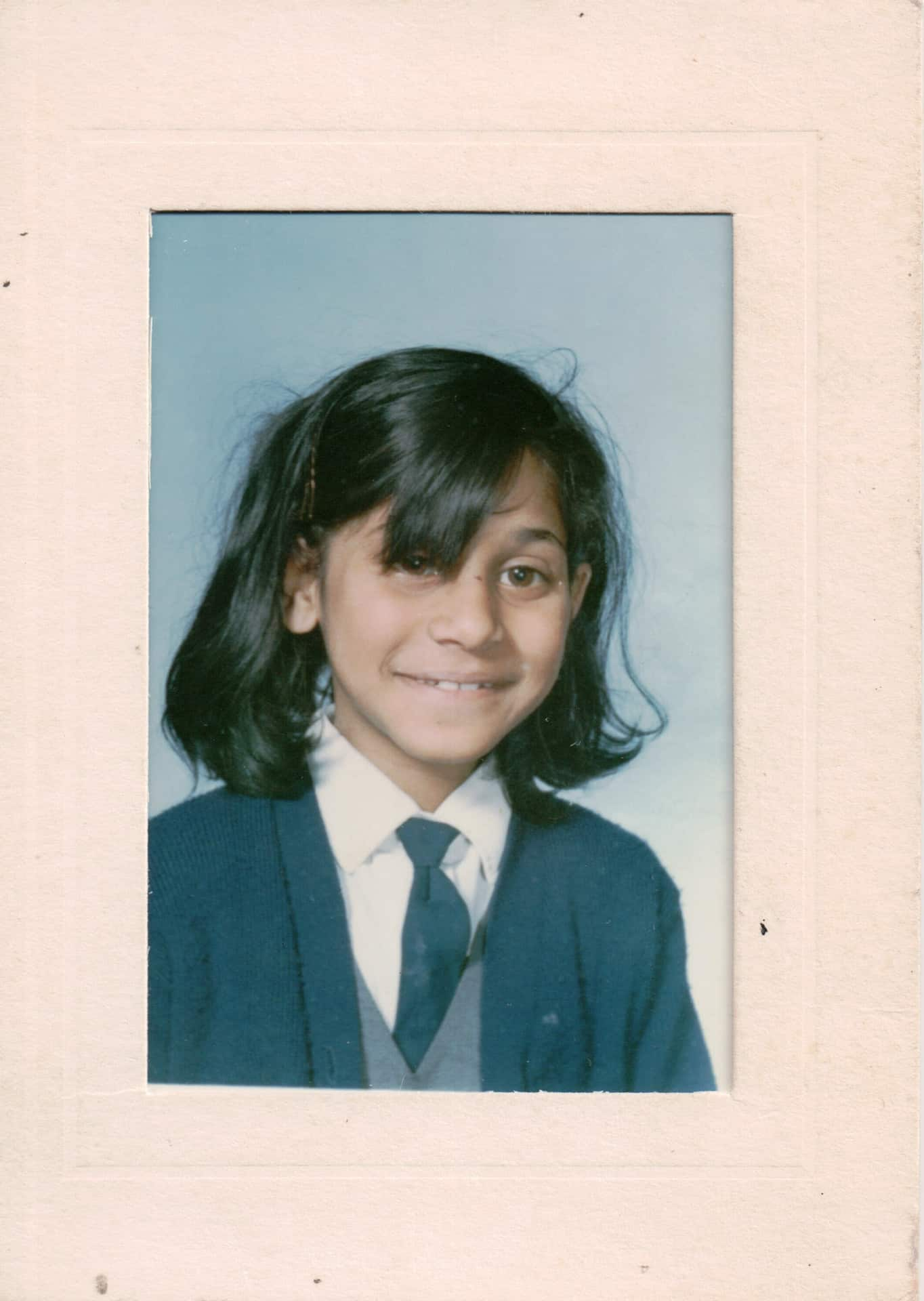 early school photography of Marianne's sister Vee
