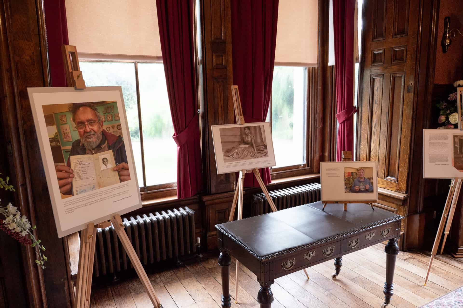 A selection of 30 participants photographs and stories were presented on easels throughout the House Museum