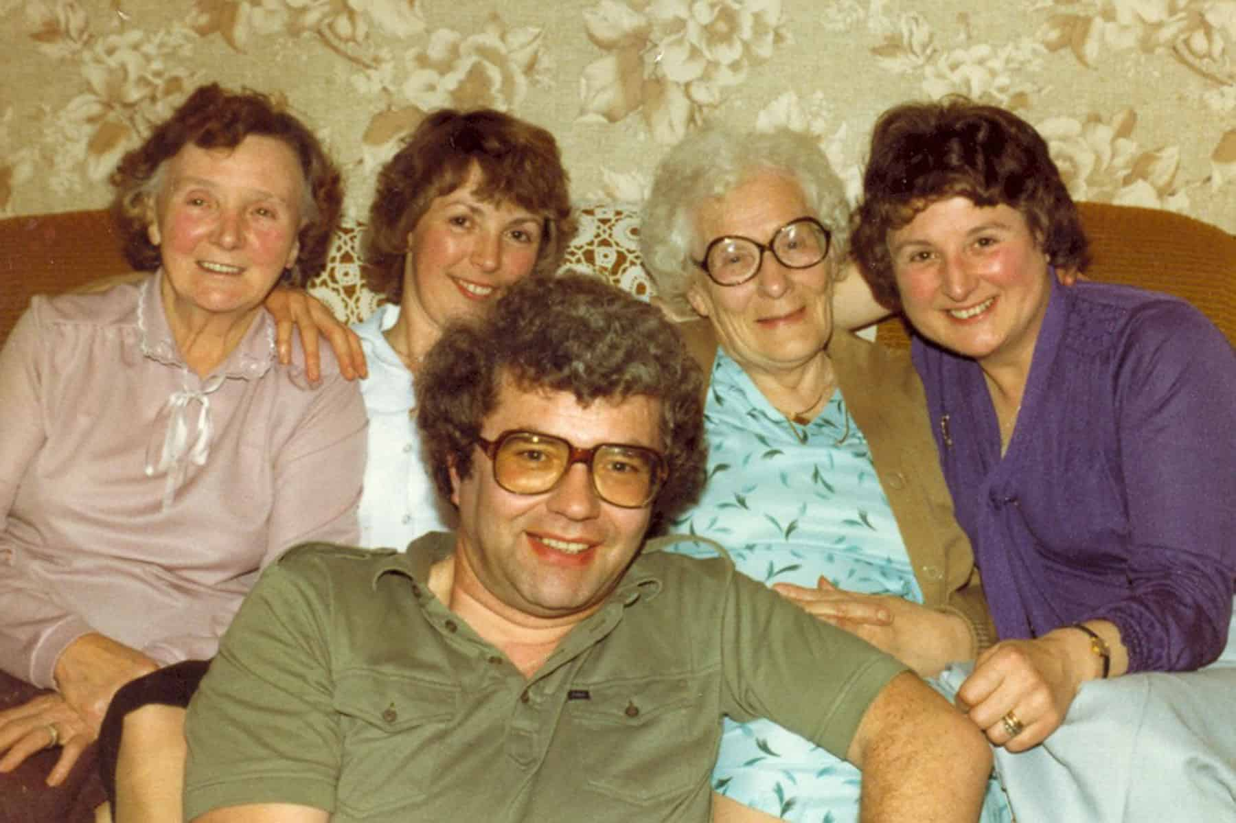 Gary and Dorothy with both their mothers Beatie and Eva and Dorothy's sister Edna Darby.