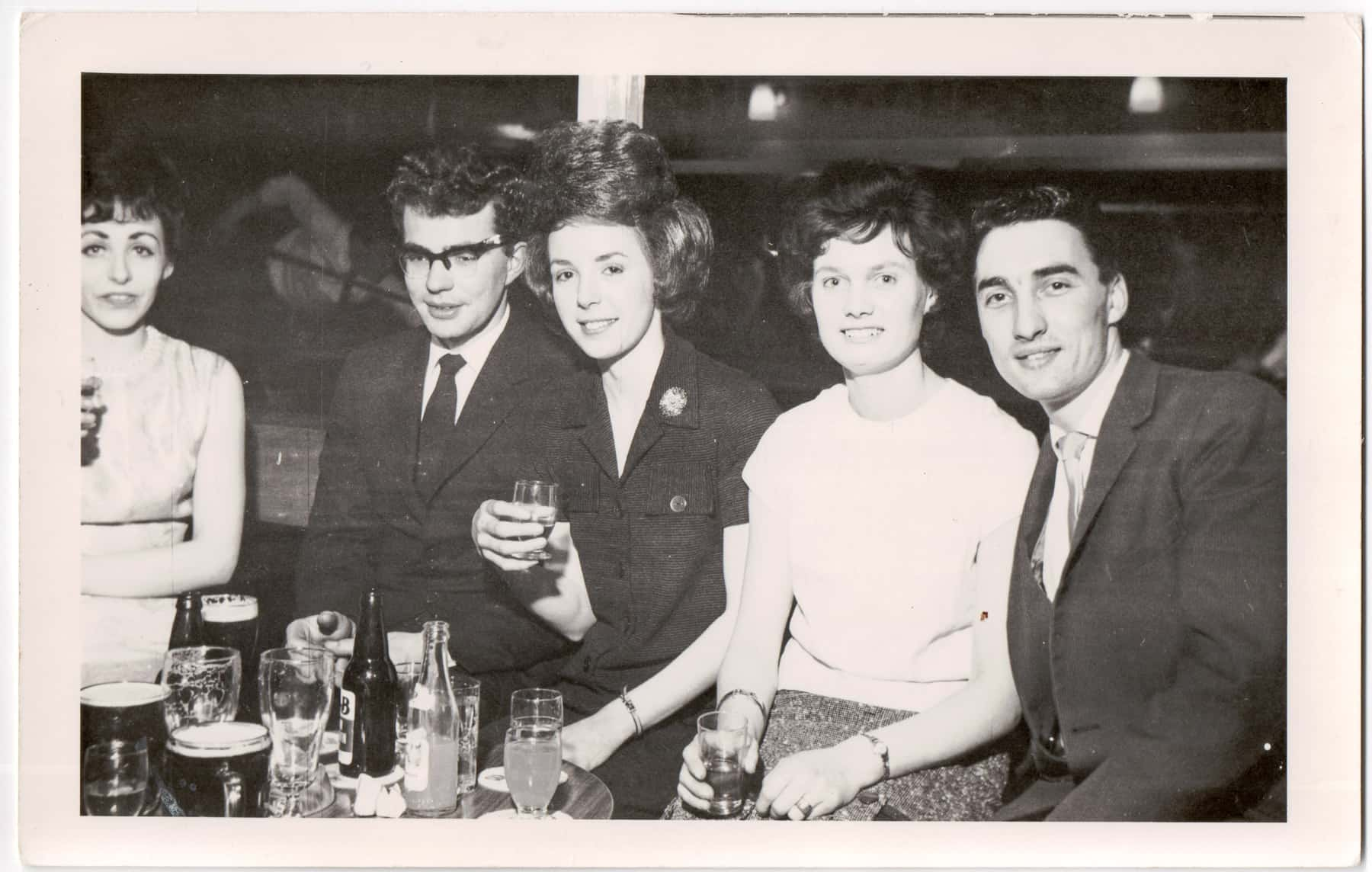 Gary and Dorothy with friends at a dance with friends in 1970.