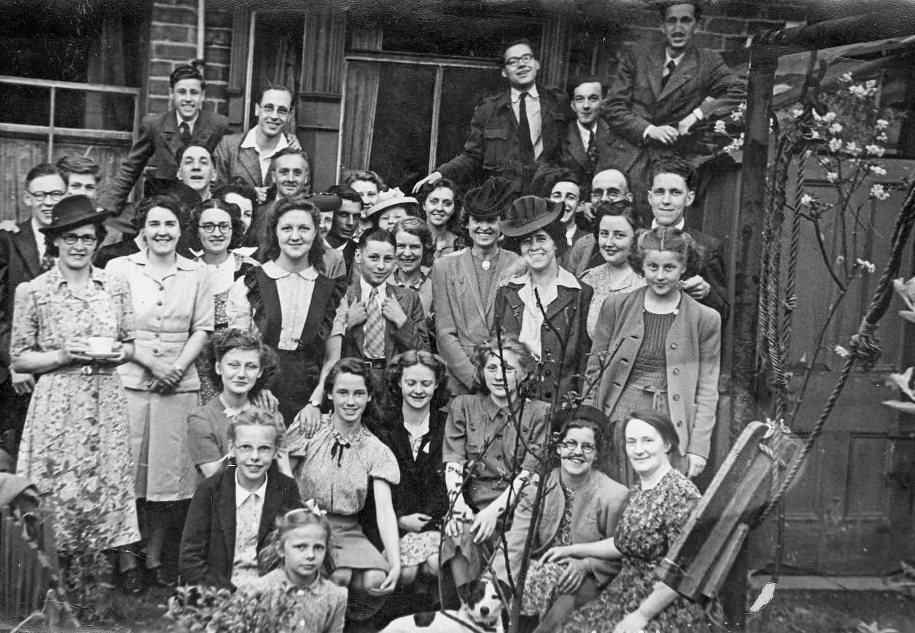 This was taken before I was born. It's a local church group,  but taken probably at Aunt Clarey's house as she used to live round the corner from the church. You don't get so many groups of people like that these days do you? We seem to be more isolated these days.