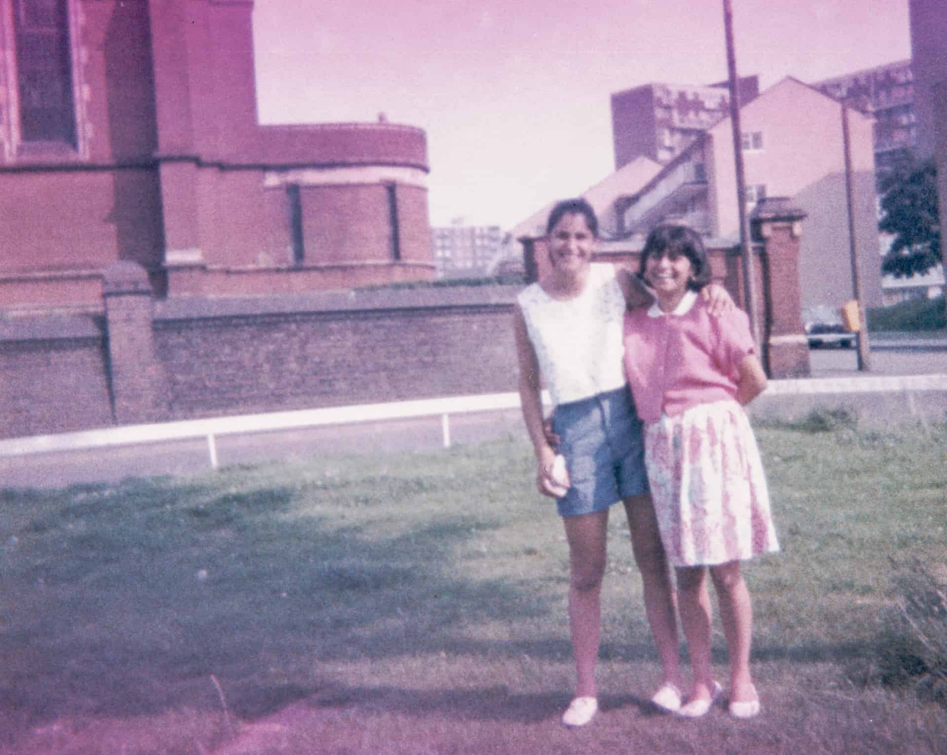 Marianne and Vee in Smethwick in the 1980s
