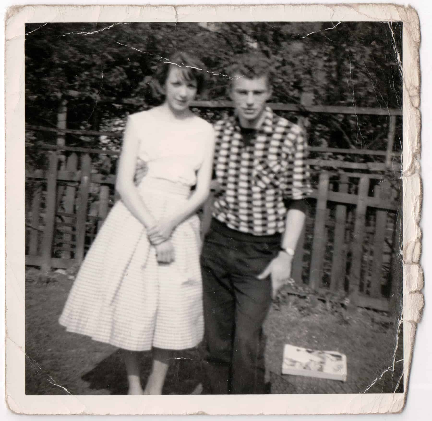 Dorothy and Gary in Gary's mum's garden before they got married.