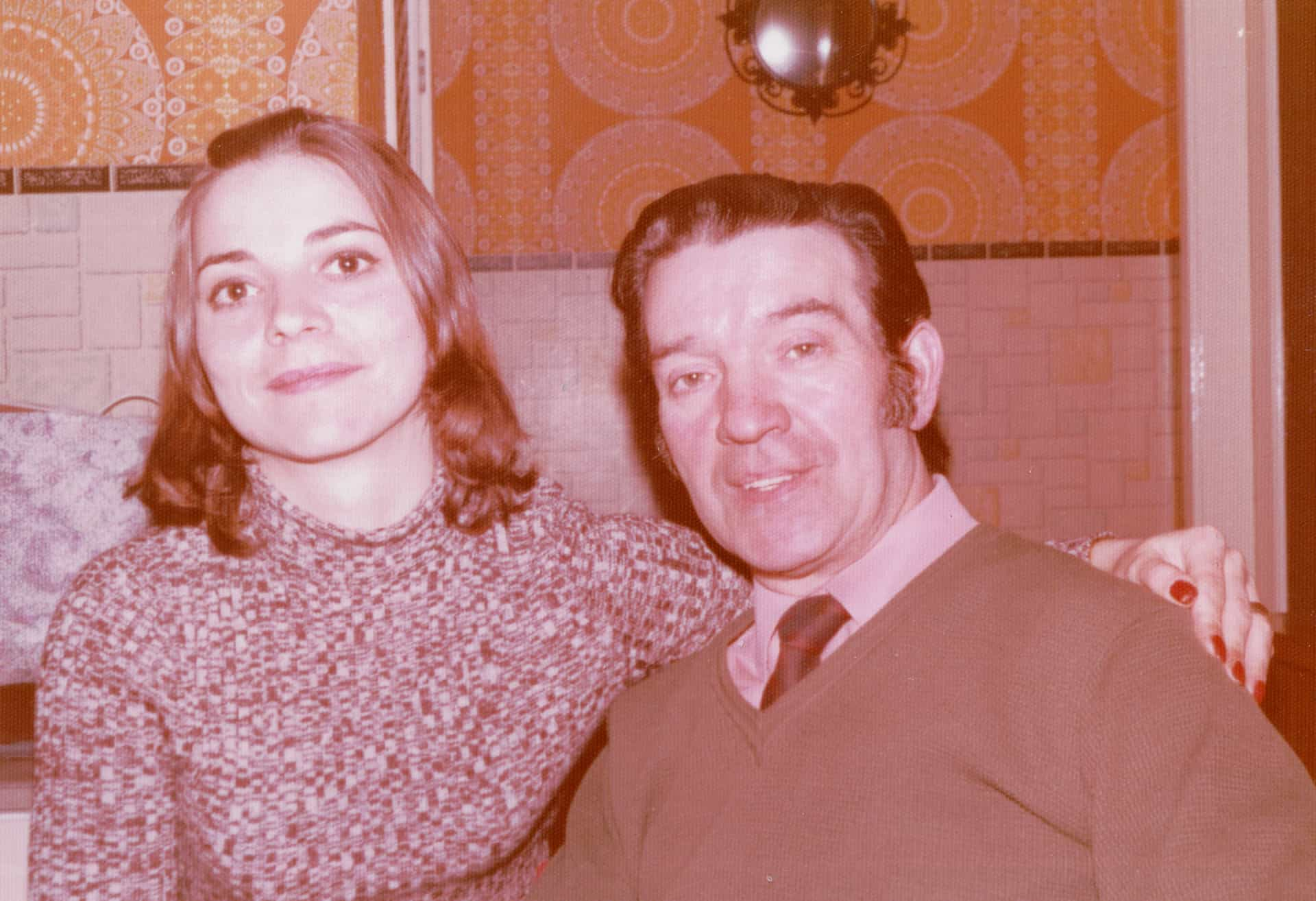 Jackie with her dad in 1978.