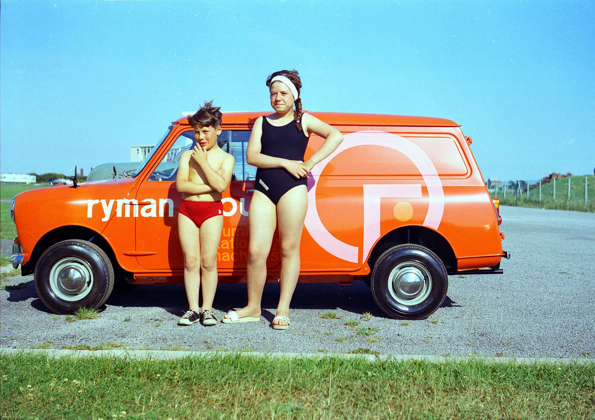 Gary Moss and Cheryl Moss on a family holiday in Wales, 1967