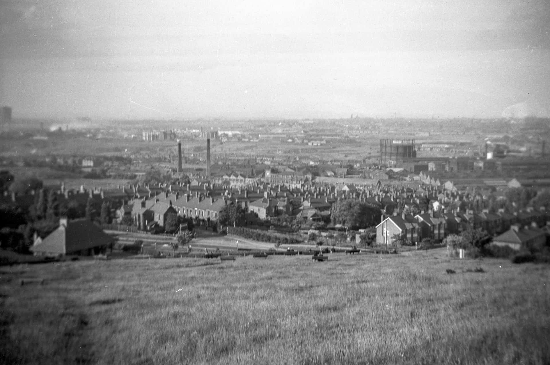 A view across Tividale, West Bromwich and beyond. From the Jim Rippin Collection. Late 1950s