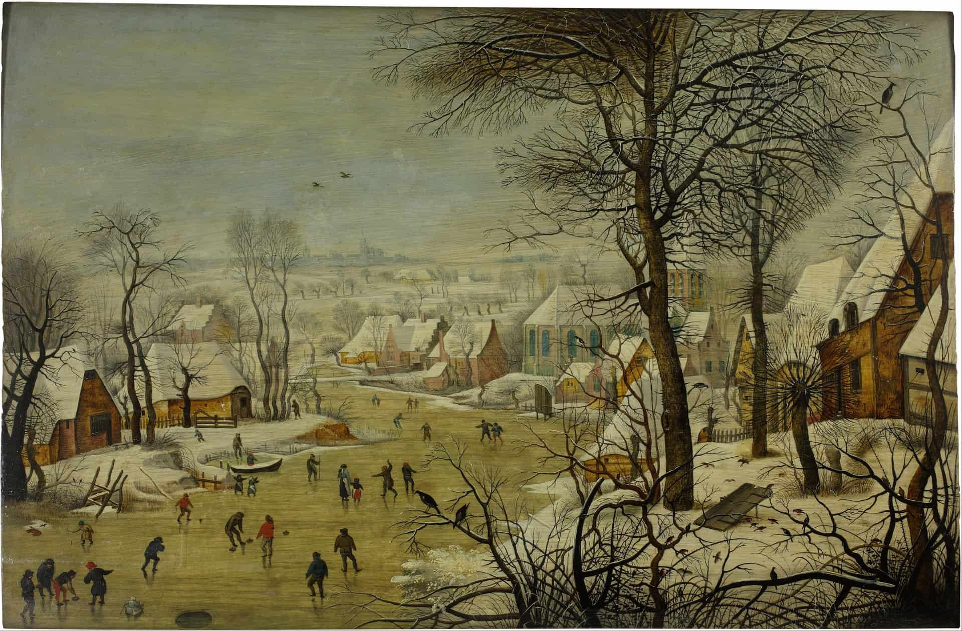 Pieter Brueghel the Younger: Winter Landscape with a Bird Trap. 1565