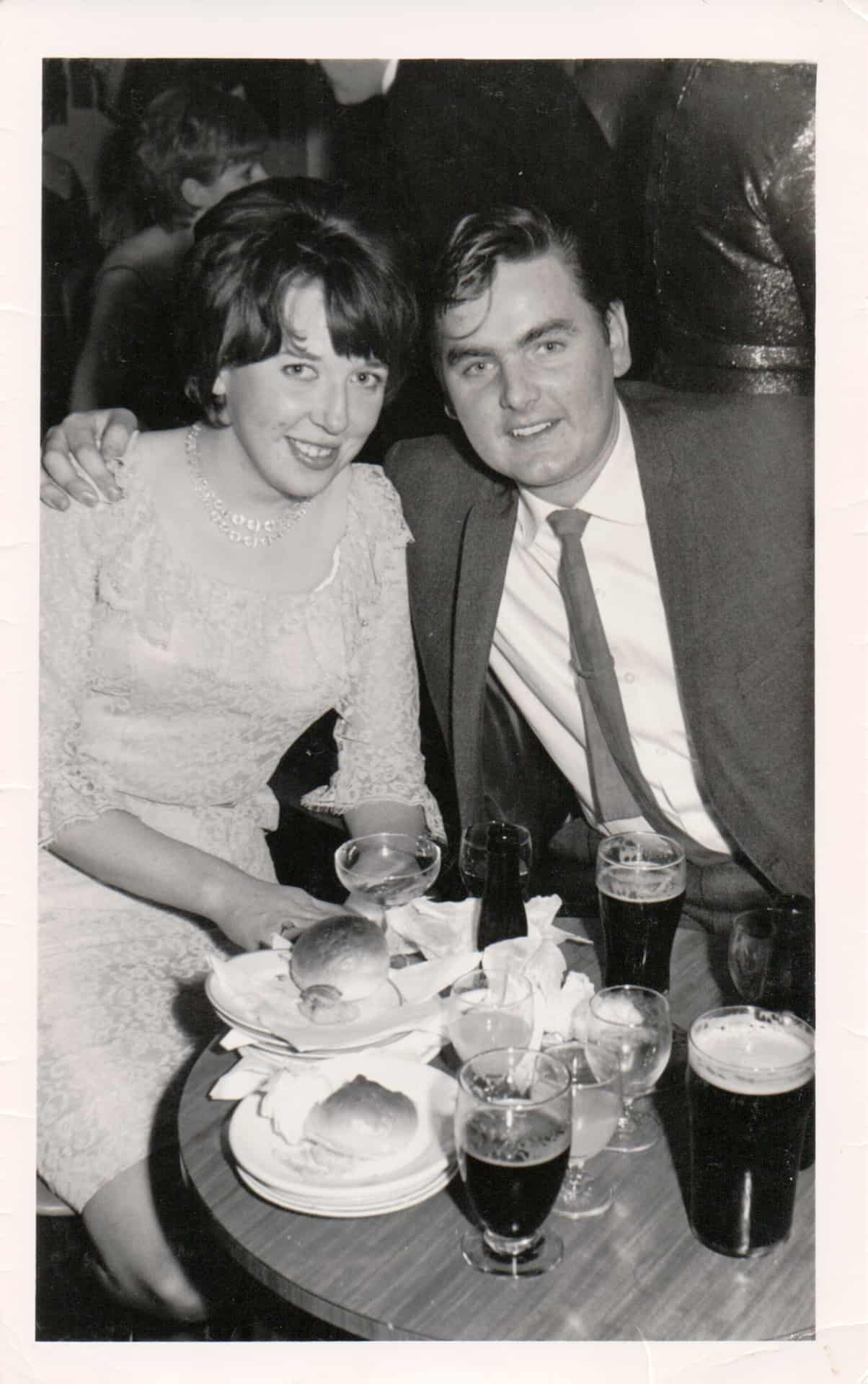 Betty and me on a night out at the Civic, Old Hill in about 1972. Betty and I got married in 1965 so we have been married for 53 years.