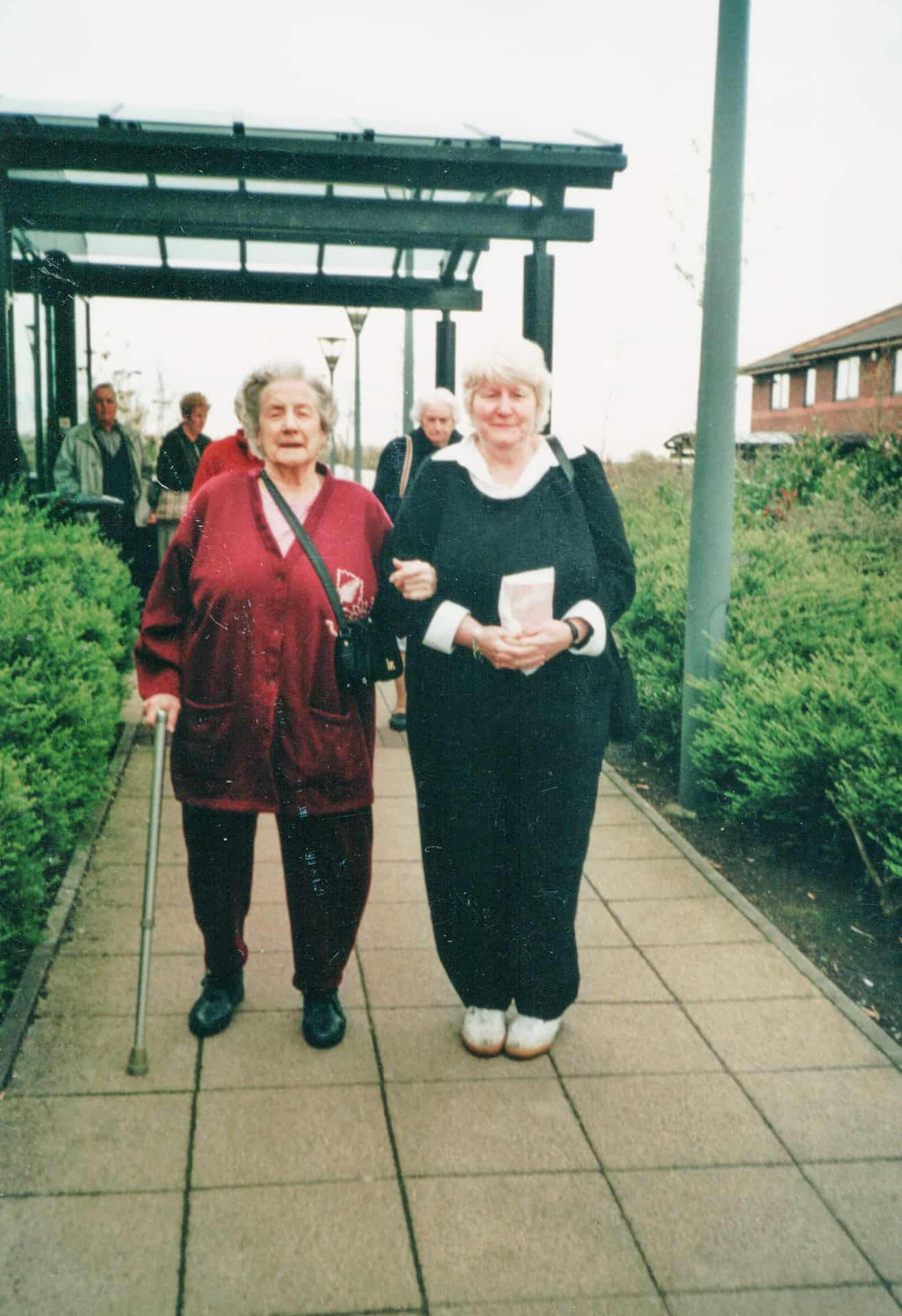 This is me and mom, we were going away for my 60th and my mom's 90th. It's a pity my daughter is not on there because she was 30 in the same year. We had a smashing party for all of us.
