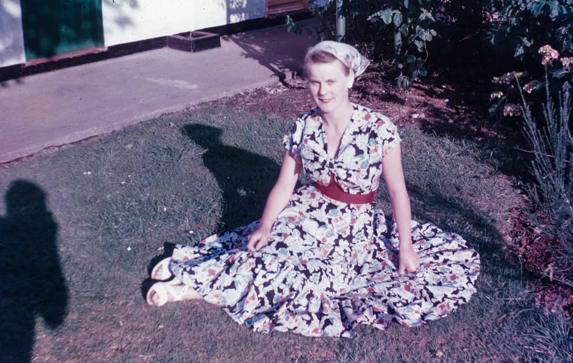 This is a lovely photo of my sister Jesse taken on slide film taken by my brother in the late 50s/ It was taken on holiday at Butlins, Phiiheli in Wales. She was with her boyfriend John Way, and my brother John and Rita