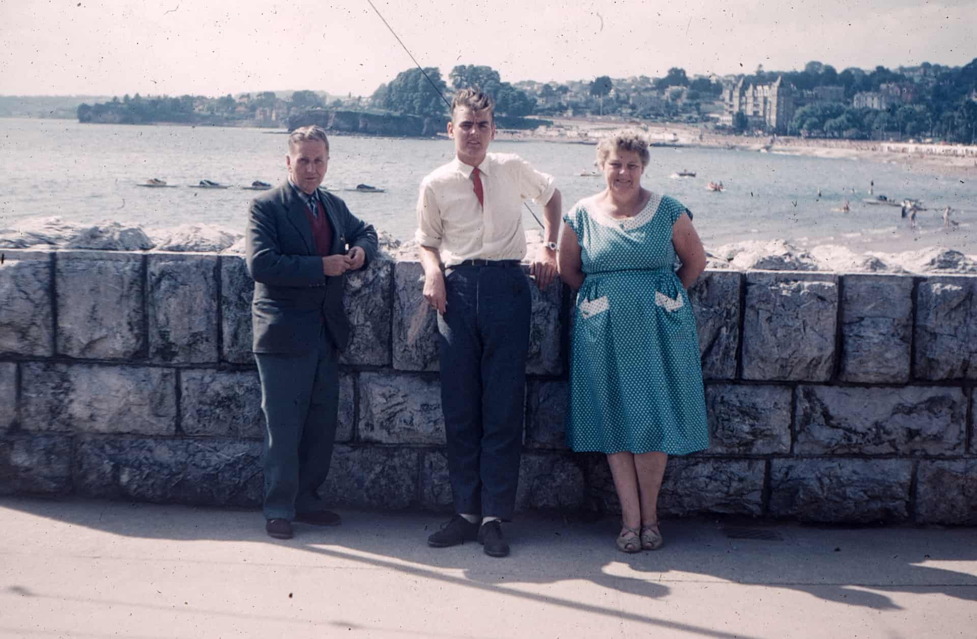 Me on holiday with mum and dad in about 1958.
