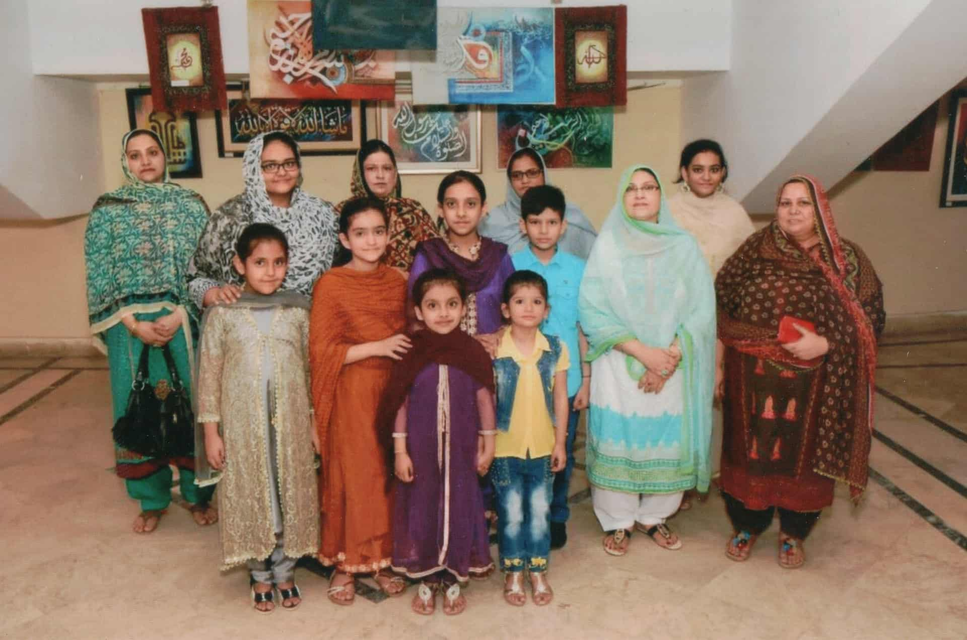 Nasra's sister and family at an exhbition in Karachi, Pakistan.
