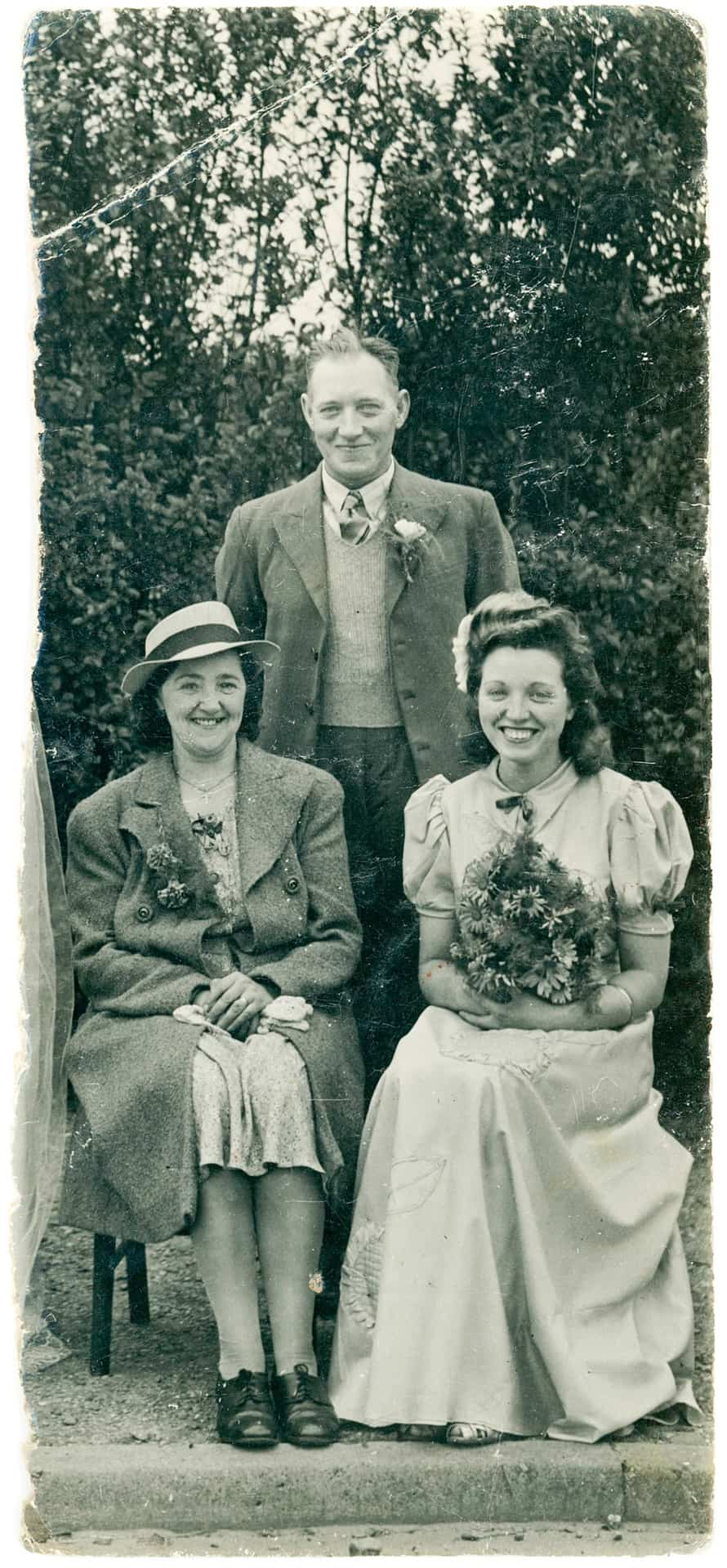 Granddad Walter (standing), Nan Lil and Aunty Rene circa 1940s