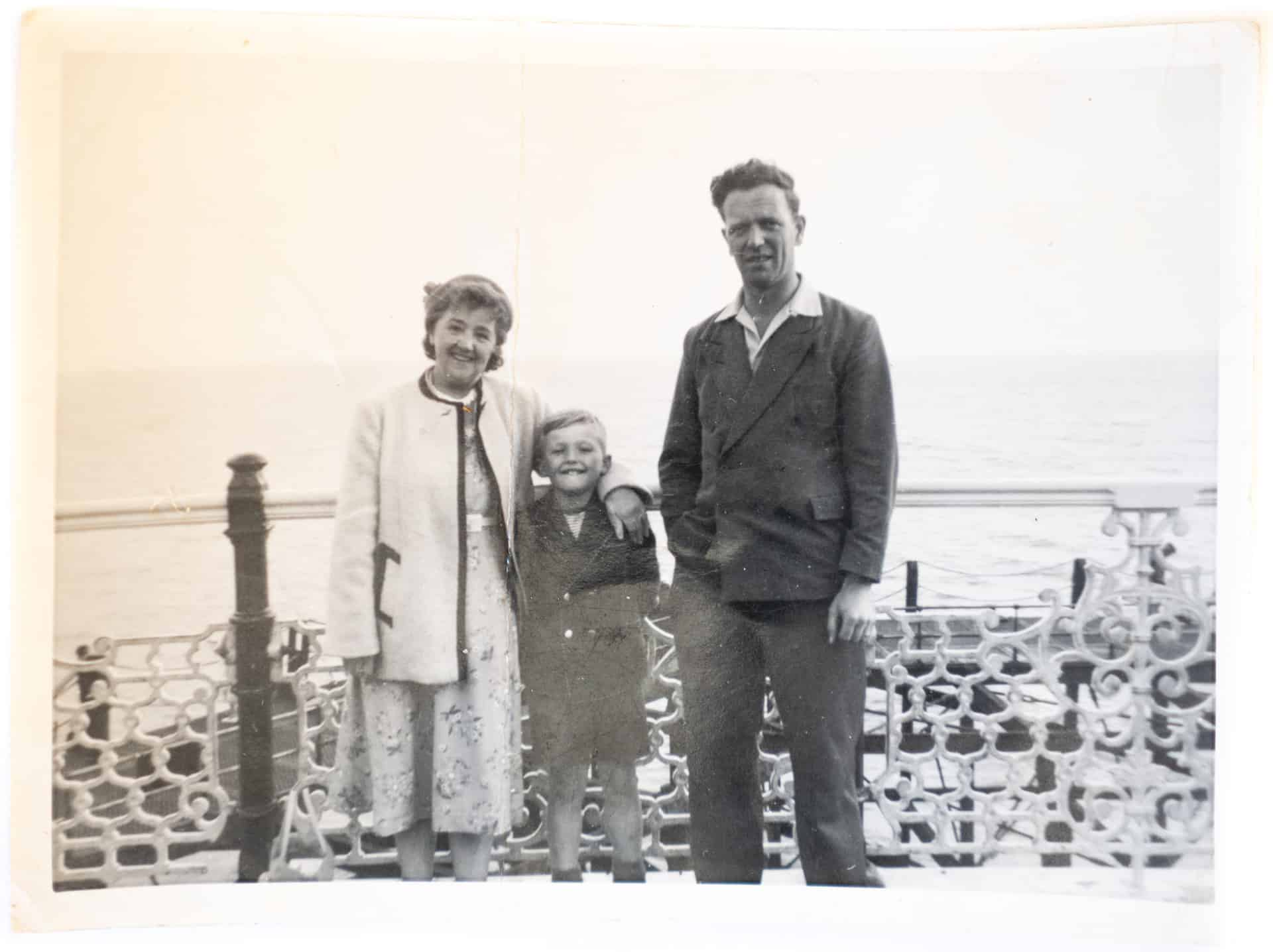 Nan, me and Dad on holiday somewhere in the 1950s