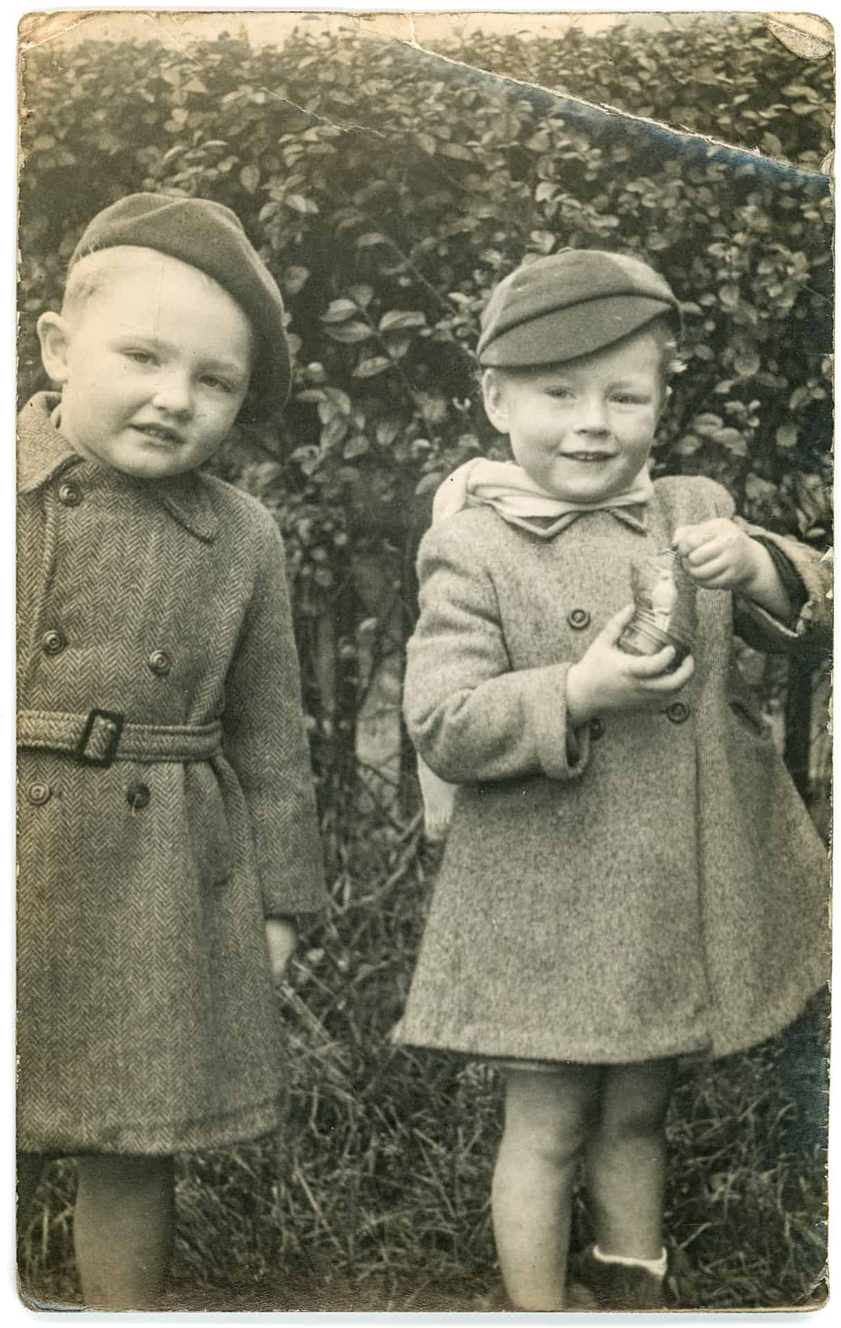 Phillip Hodgkinson and me in around 1954