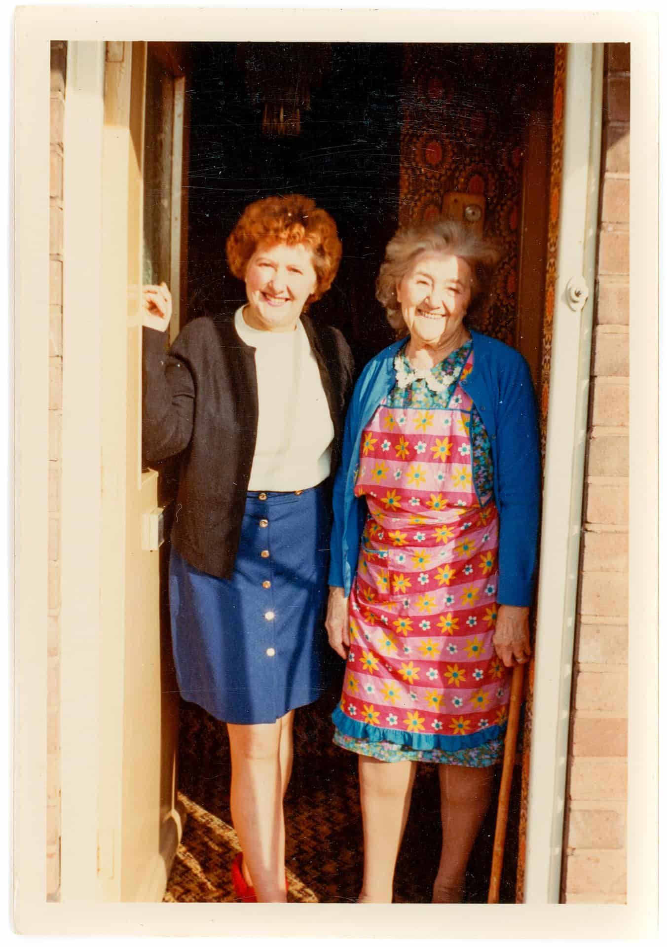 Mom and Nan on the doorstep of their house in Hateley Heath in the 1970s