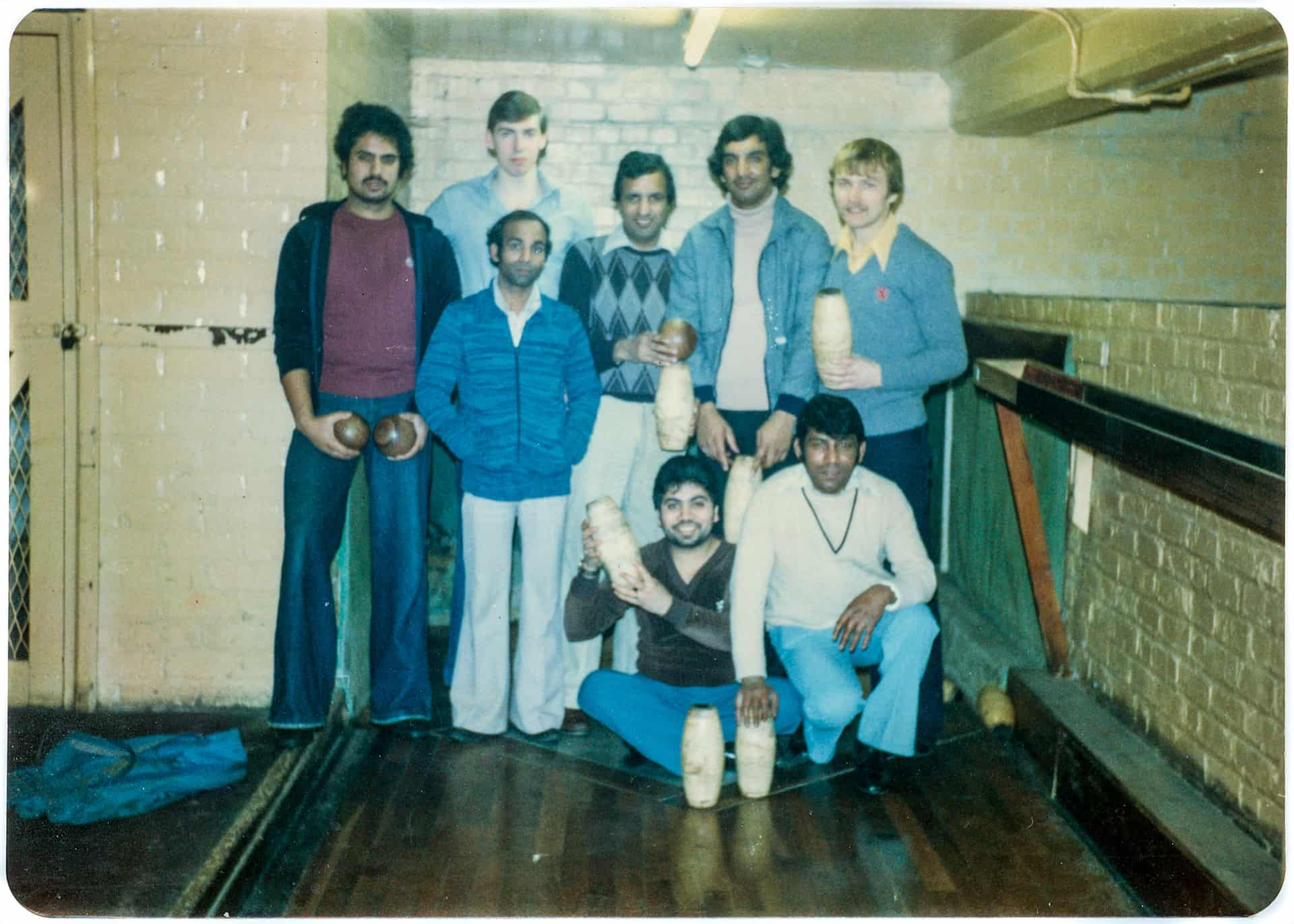Simplex 9-pin Skittle team late 1970s