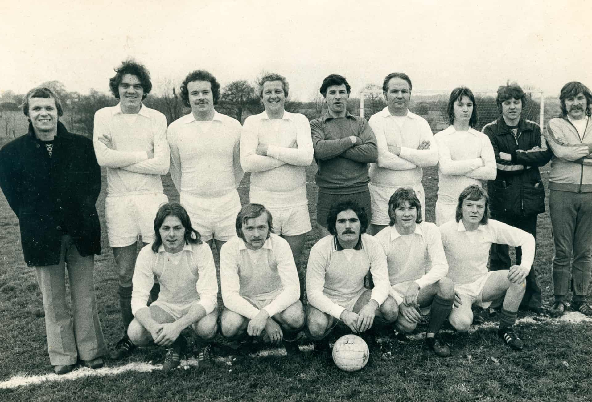 Simplex Football Team late 1970s, I am front row, second from the left.