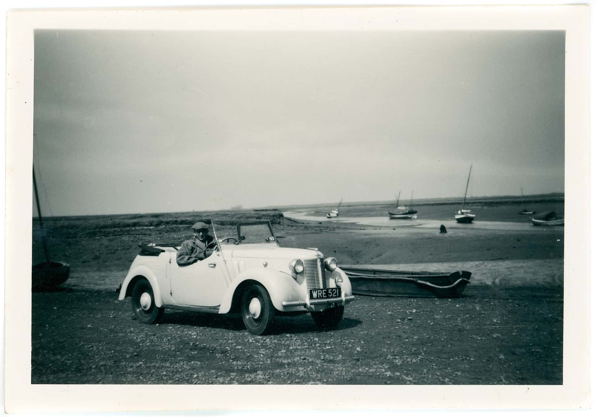 19 My first car – an ex – Army Austin 8 built during WW2. Picture taken late 50s.