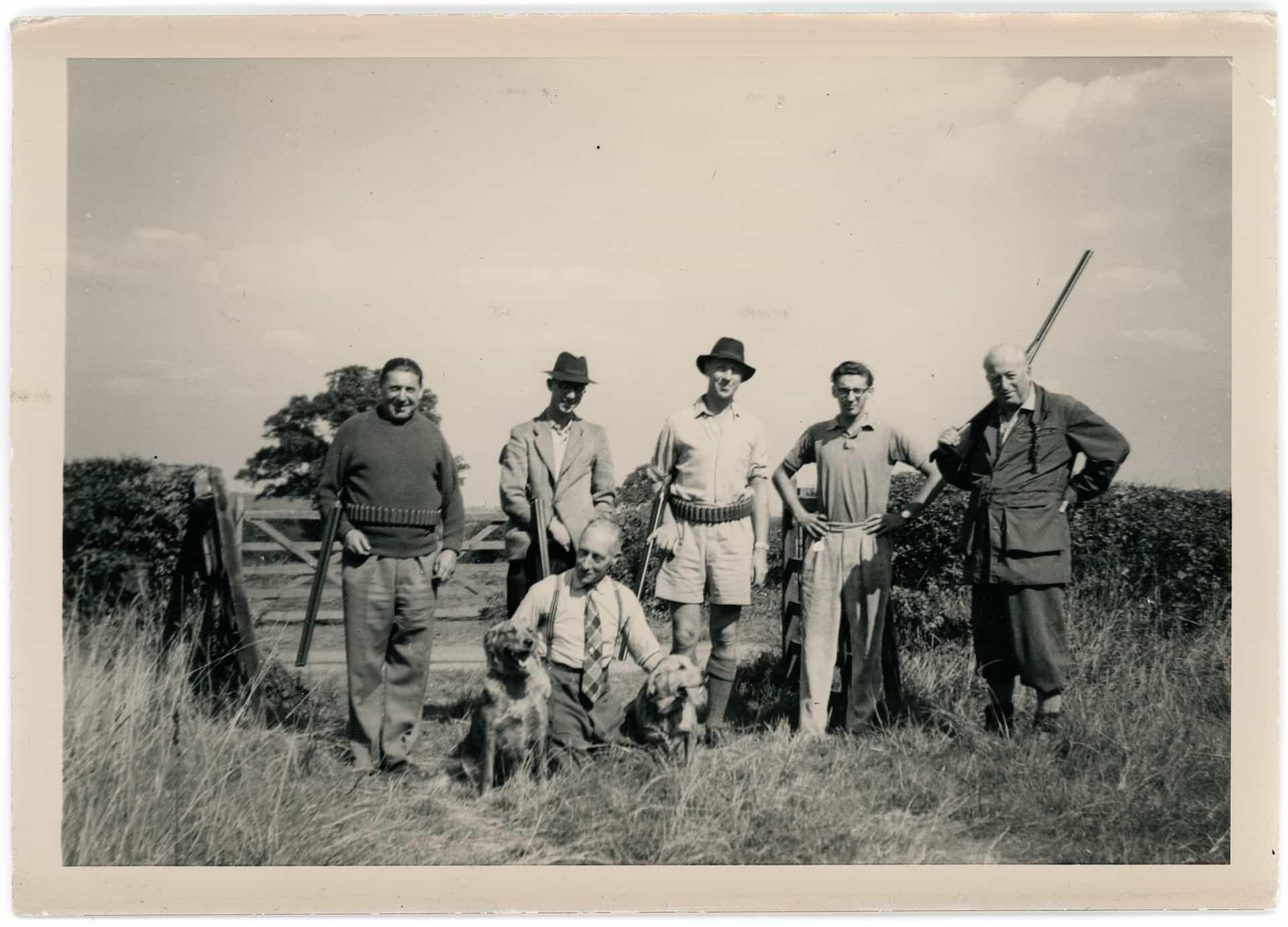 Early-season shoot near Bridgnorth. Early 1960s.