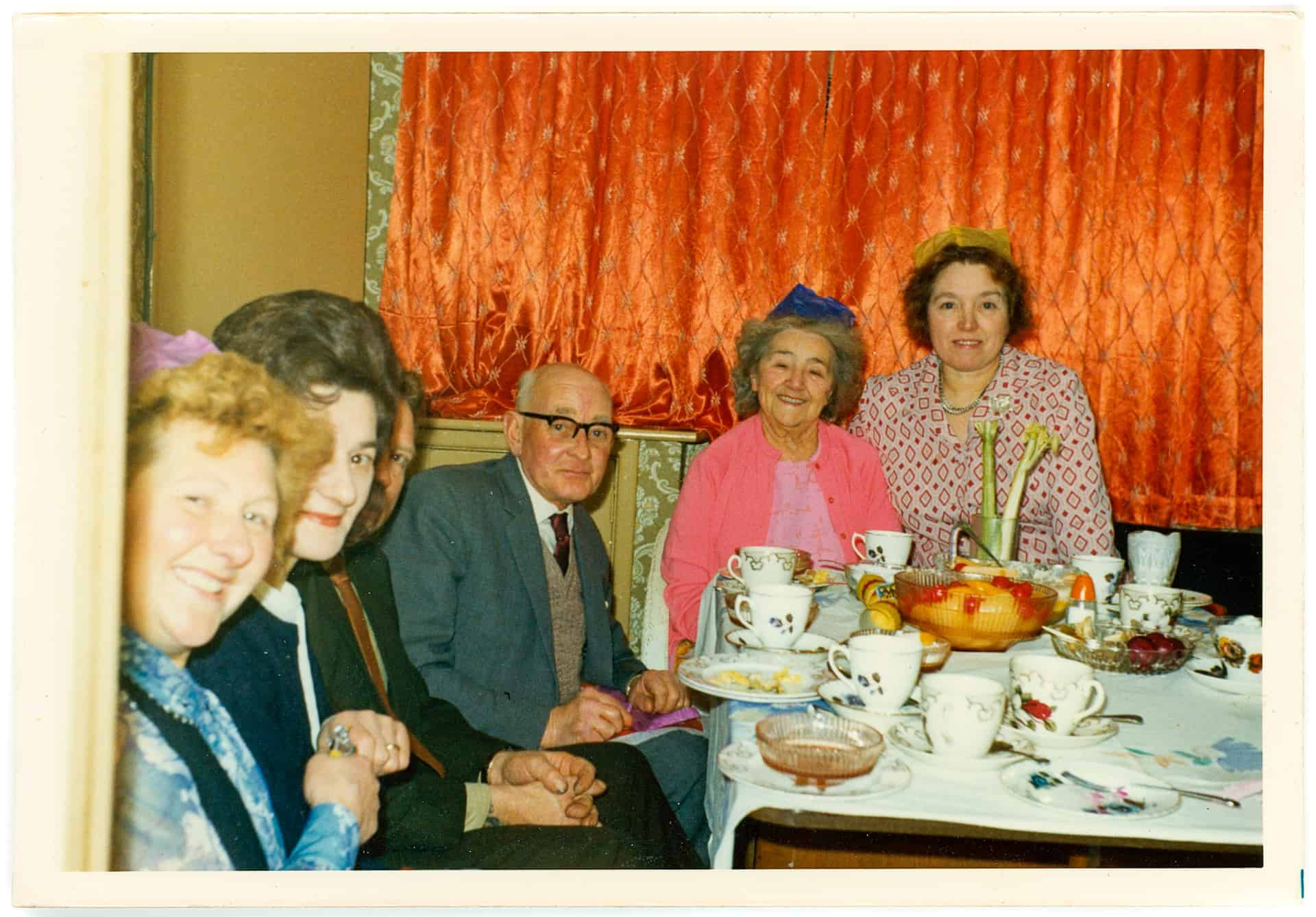 Family meal, Dudley, 1974. Photography shared from the personal collection of Mike Poulton.